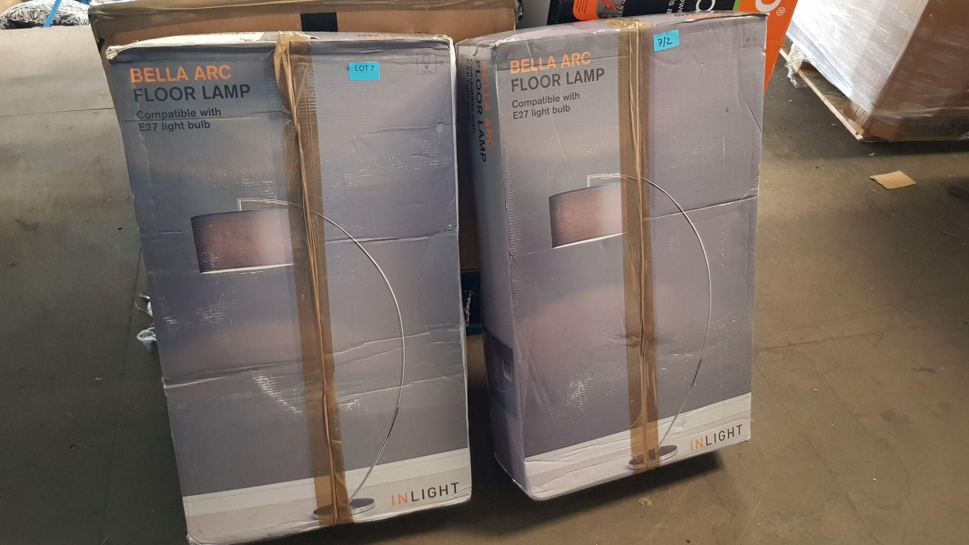 (P8) 2x In Light Bella Arc Floor Lamp RRP £69 Each. - Image 3 of 3