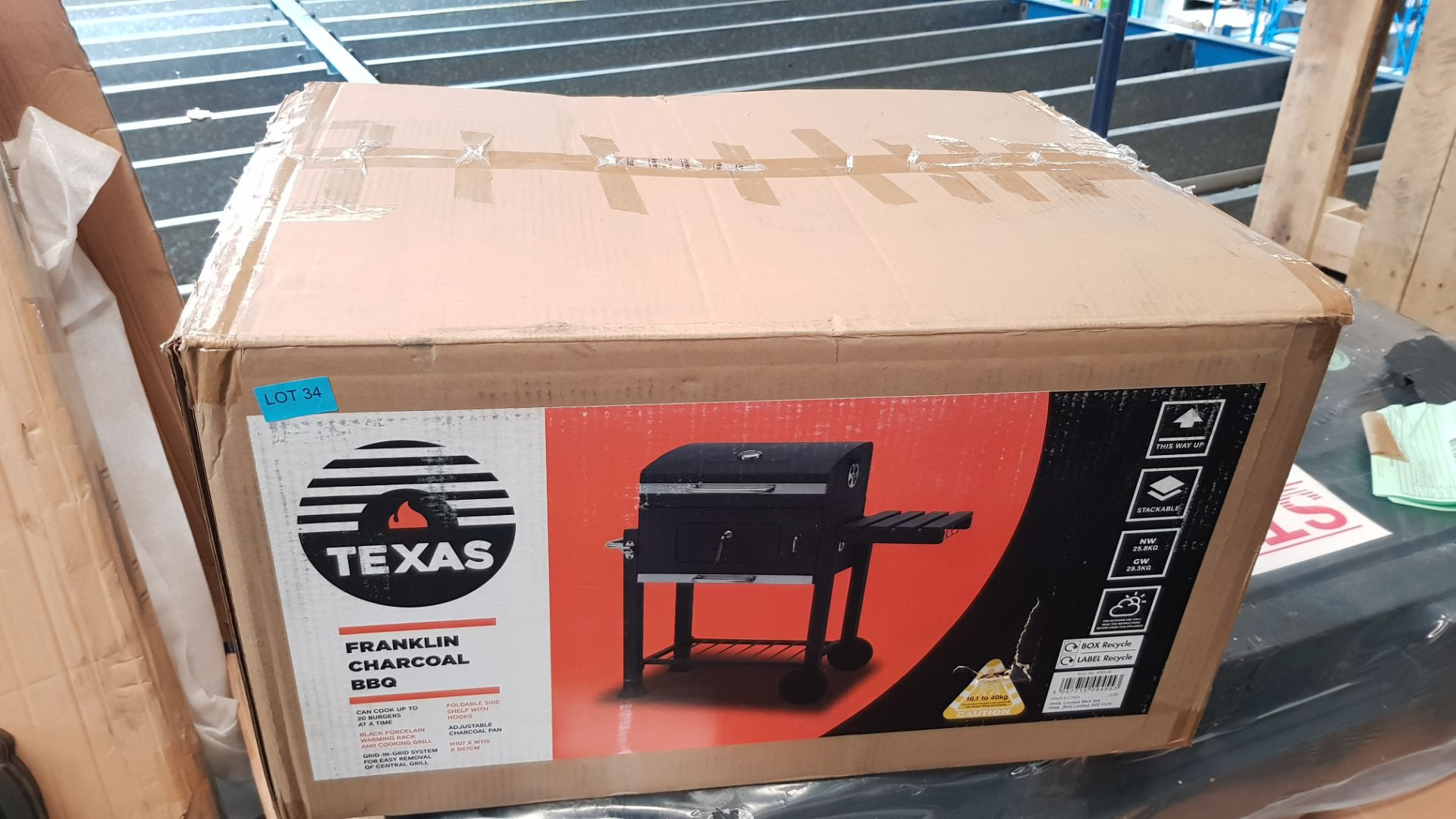 (P10) 1x Texas Franklin Charcoal BBQ. RRP £180.00. Unit Appears Unused, As New, Contents Have Not P - Image 3 of 4