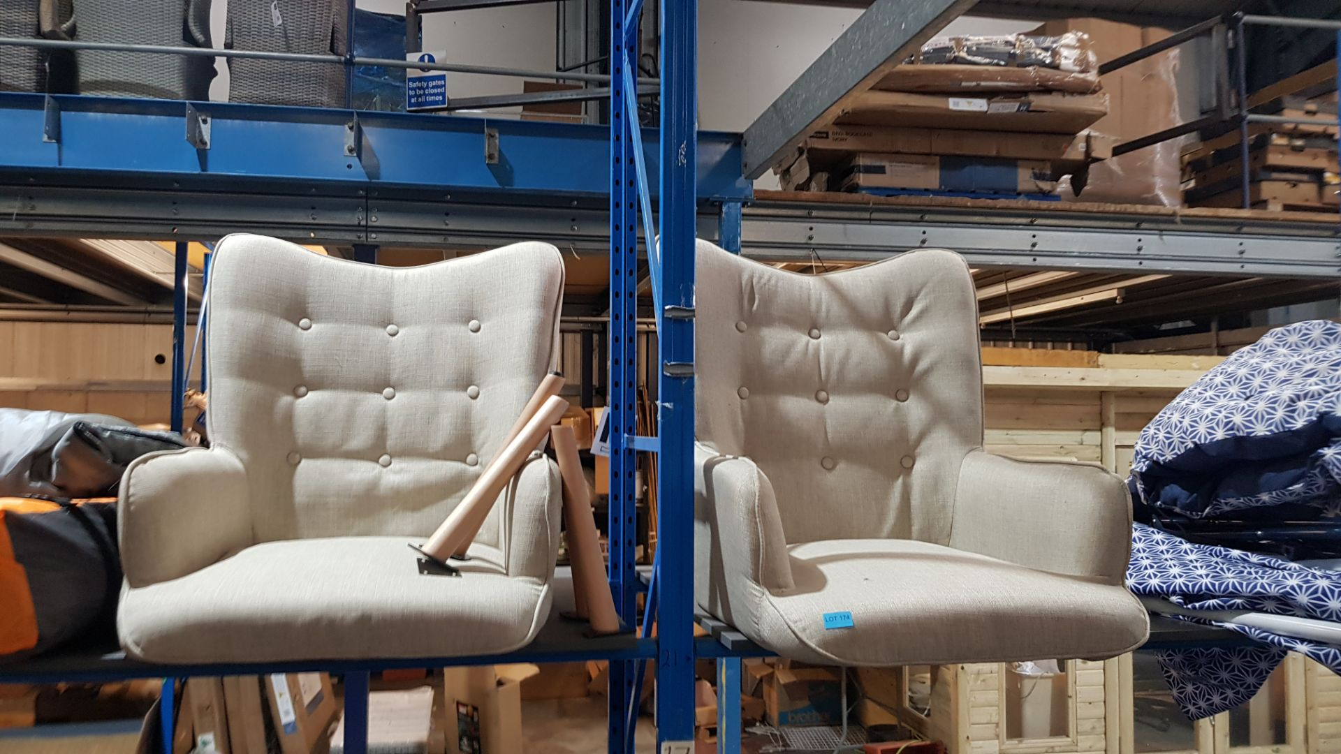 (2I) 2x Leon Beige Lounge Chairs (Only 1x Leg Set With This Lot). Both Units Appear Clean, Unused. - Image 3 of 7