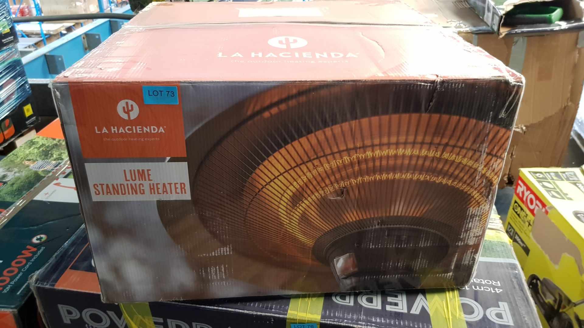 (P5) 1x La Hacienda Lume Standing Heater RRP £99. (H205x D50x Base D40.5cm). Contents In Original P - Image 2 of 3