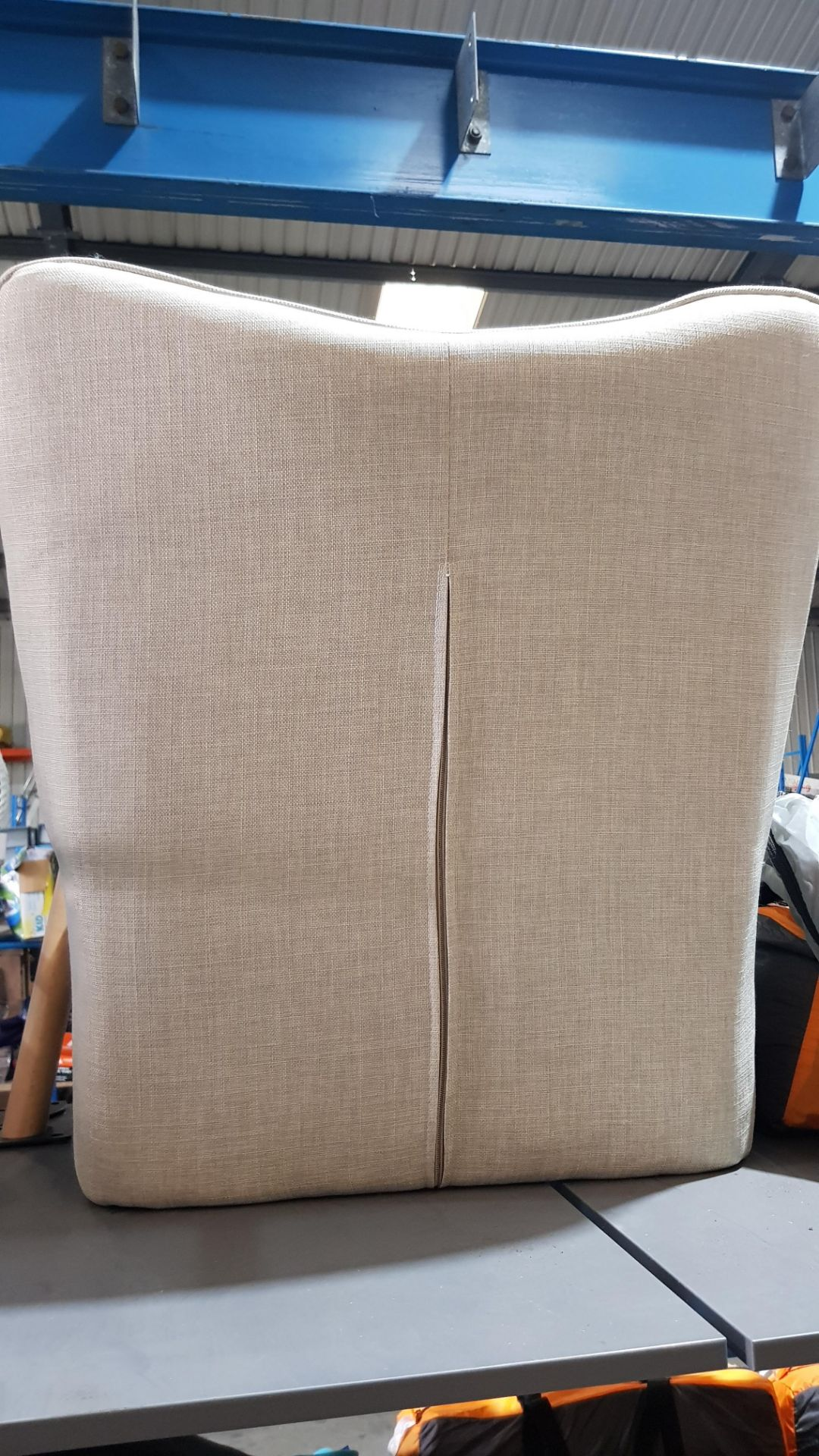 (2I) 2x Leon Beige Lounge Chairs (Only 1x Leg Set With This Lot). Both Units Appear Clean, Unused. - Image 6 of 7