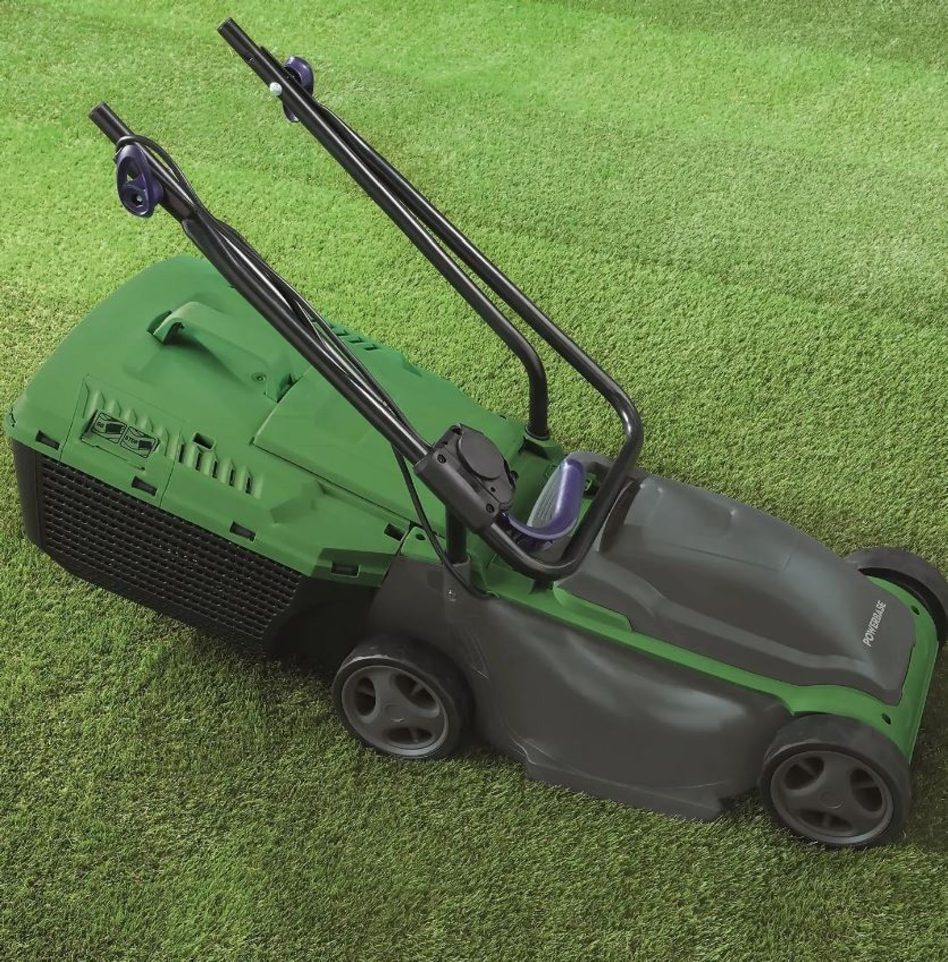 (P8) 1x Powerbase 32cm 1200W Electric Rotary Lawnmower RRP £59. Contents Appear As New, Clean & Not - Image 2 of 4