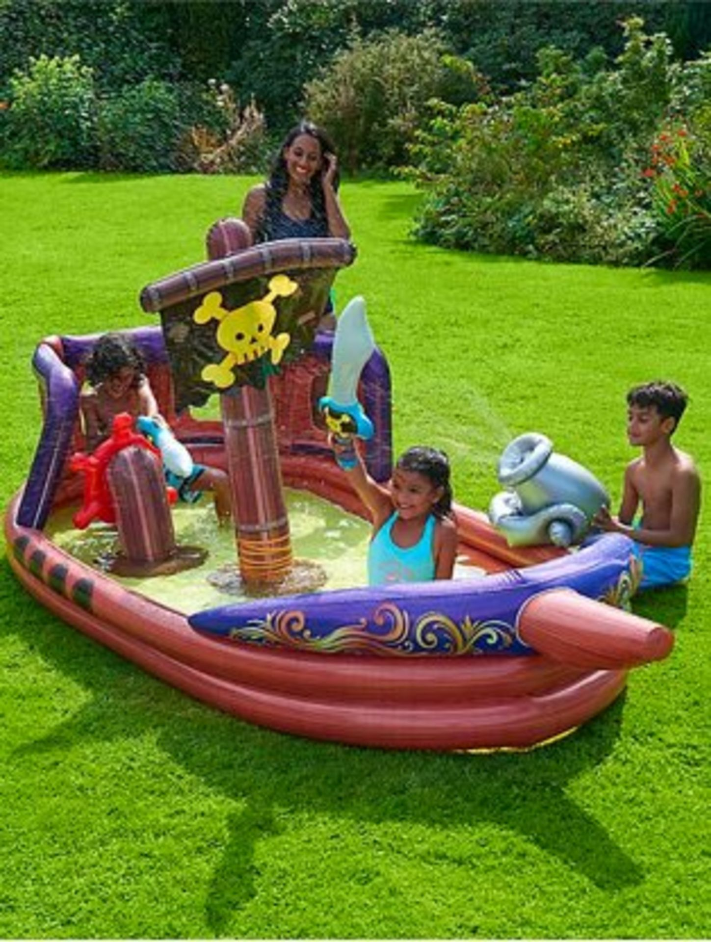 (3G) 6x Kid Connection Inflatable Items. 5x 3 Ring Pool. 1x Inflatable Pirate Ship, - Image 2 of 3