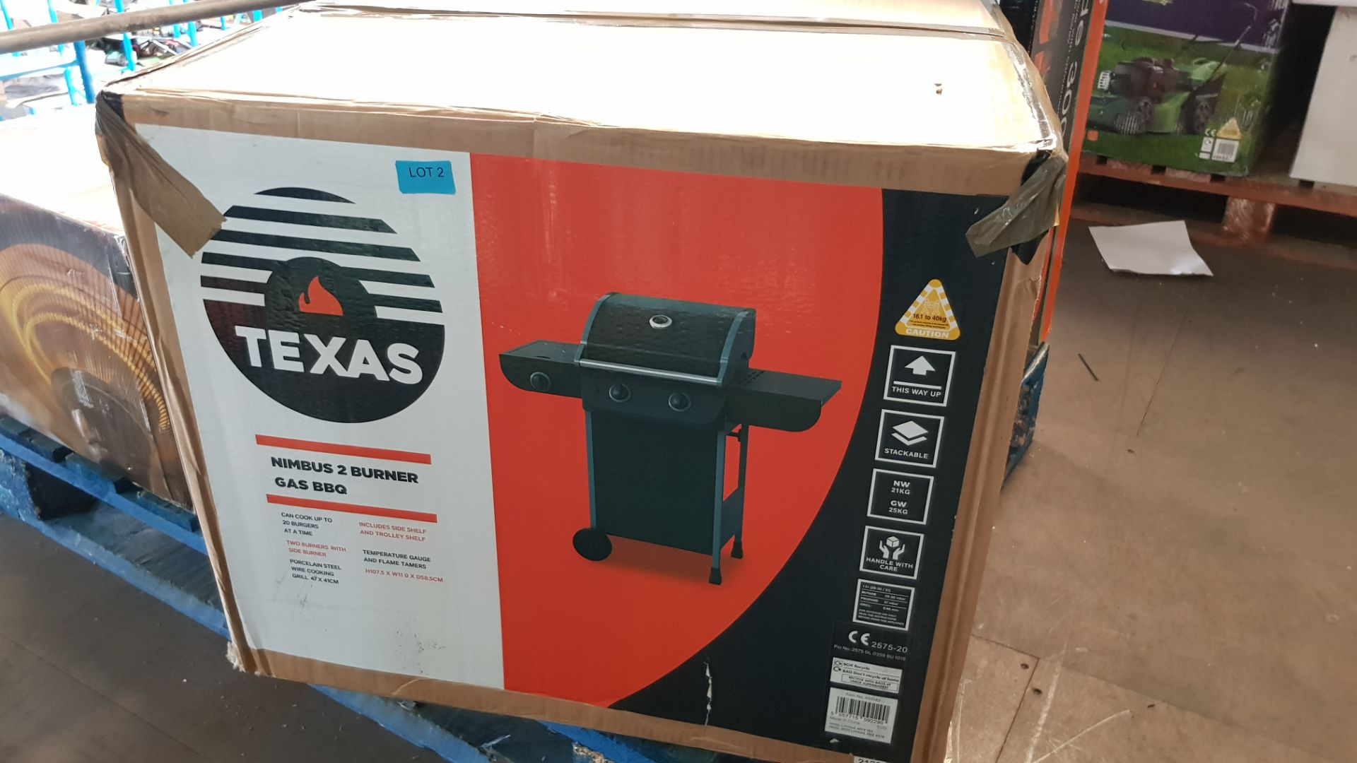 (P8) 1x Texas Nimbus 2 Burner Gas BBQ RRP £80. Contents Appear As New – Unused & Not Previously Re - Image 3 of 6