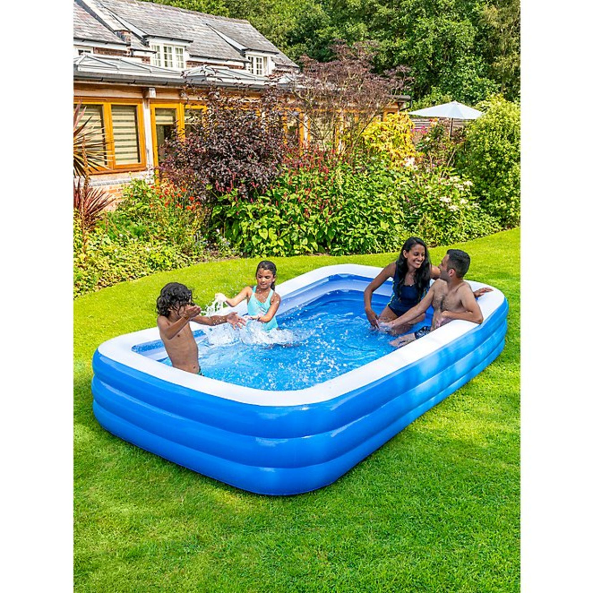 (3G) 6x Kid Connection Inflatable Items. 5x 3 Ring Pool. 1x Inflatable Pirate Ship,