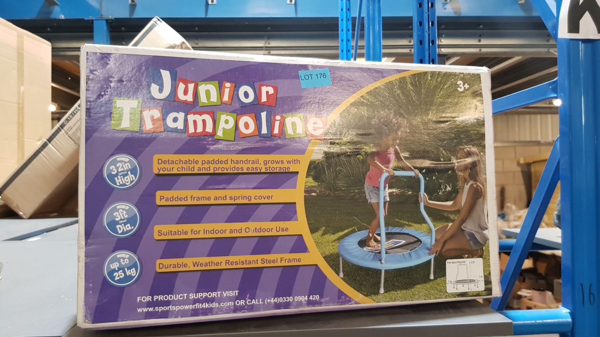 (2K) 1x Junior Trampoline Blue Ages 3+ - Image 2 of 2