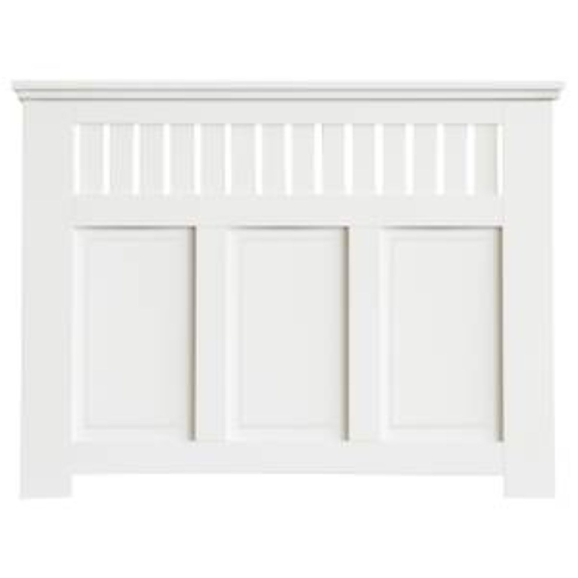 (3F) 1x Winther Browne Wilton Radiator Cabinet Smooth White Finish. - Image 2 of 4