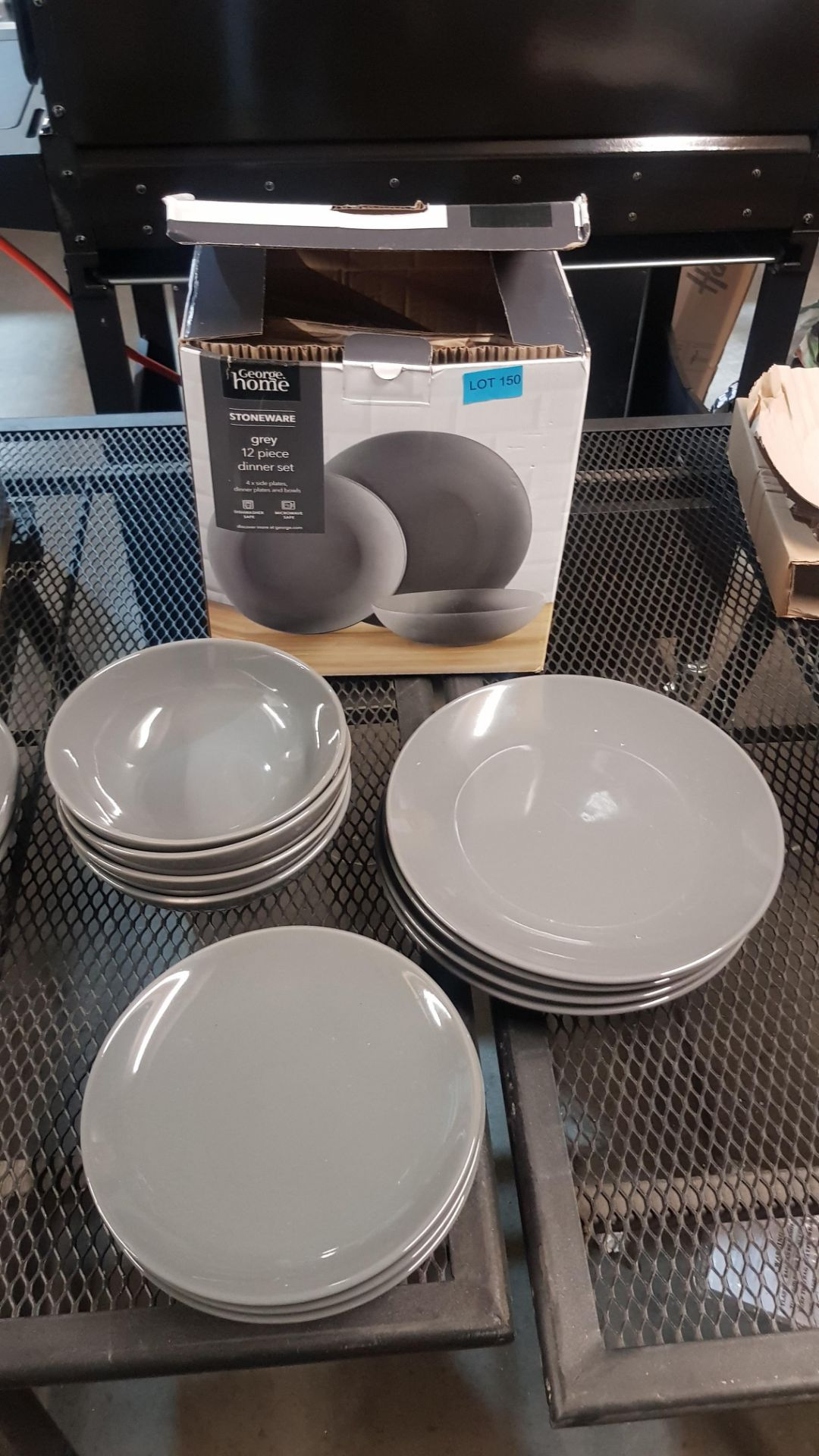 4x GH Stoneware Grey 12 Piece Dinner Set (Lot Comes With 3x Boxes) - Image 2 of 5