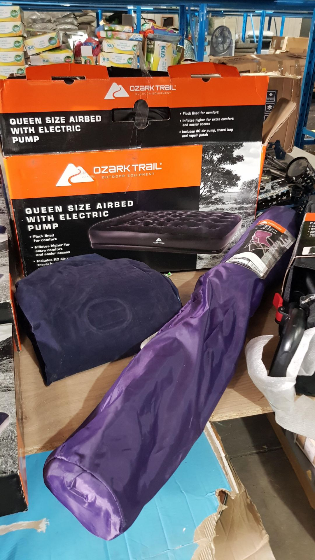 (3G) 7x Ozark Trail Items. 1x Queen Size Airbed. 2x Double Airbed. 2x Single Airbed (1x No Box). 1 - Image 8 of 10