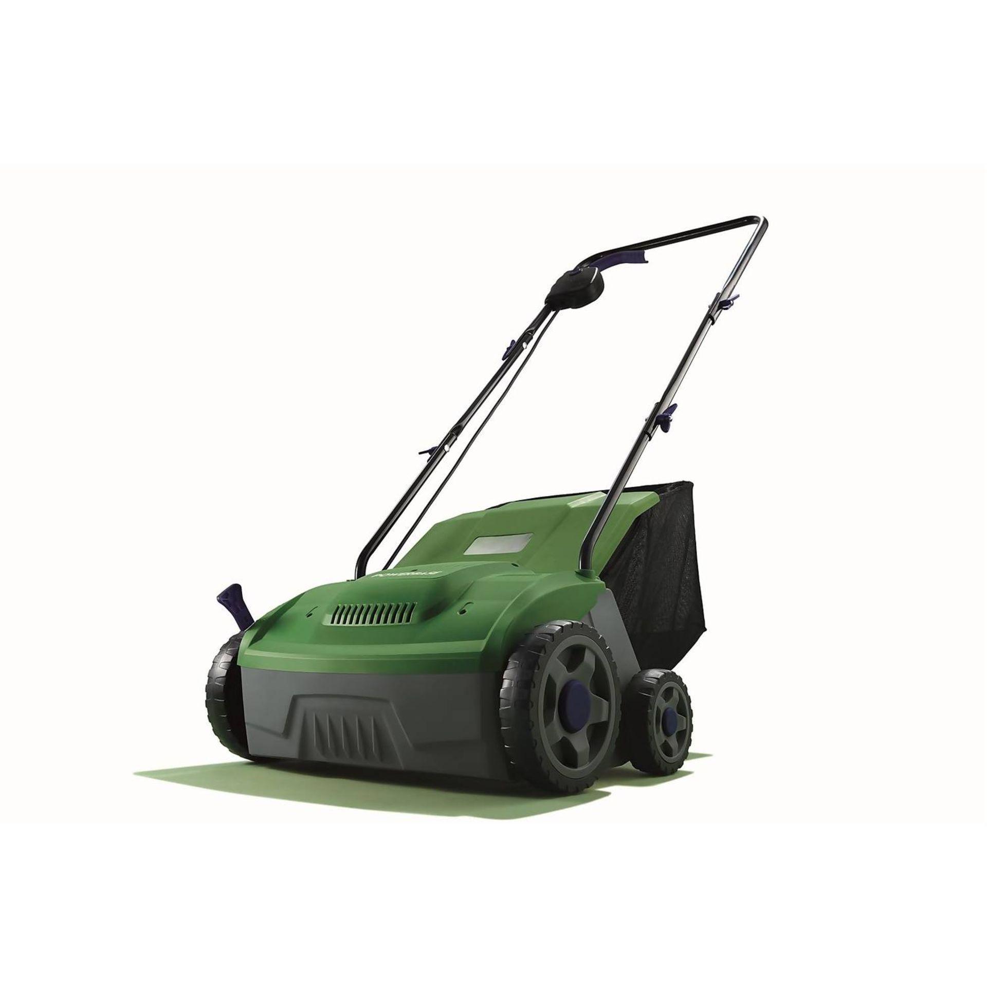 (P9) 2x Items. 1x Powerbase 32cm 1400W Electric Lawn Rake & Scarifier. 1x Sovereign 32cm 1200W Ele