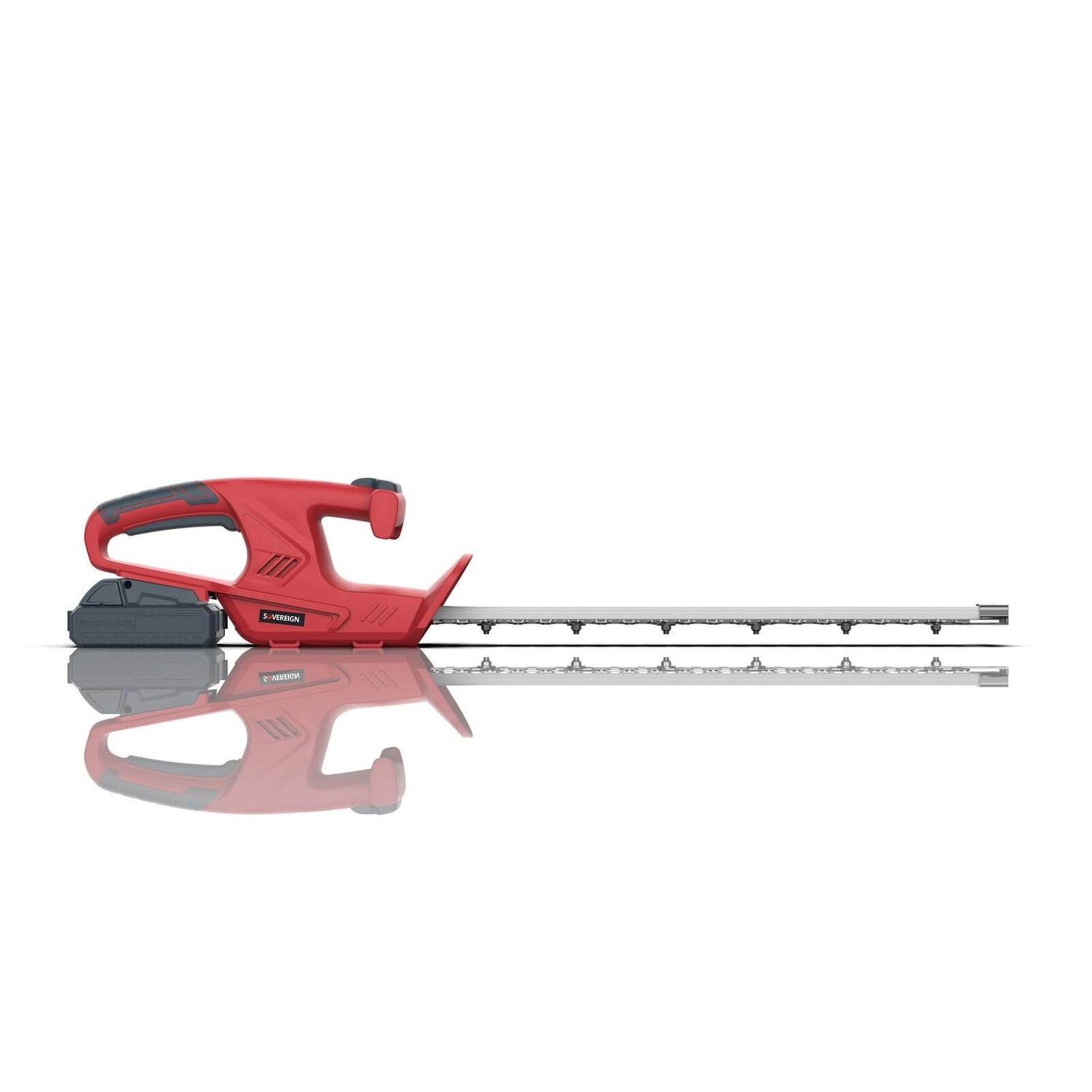 (P9) 2x Items. 1x Sovereign 18V Cordless Hedge Trimmer 45cm RRP £49. Contents Appear As New – Clea