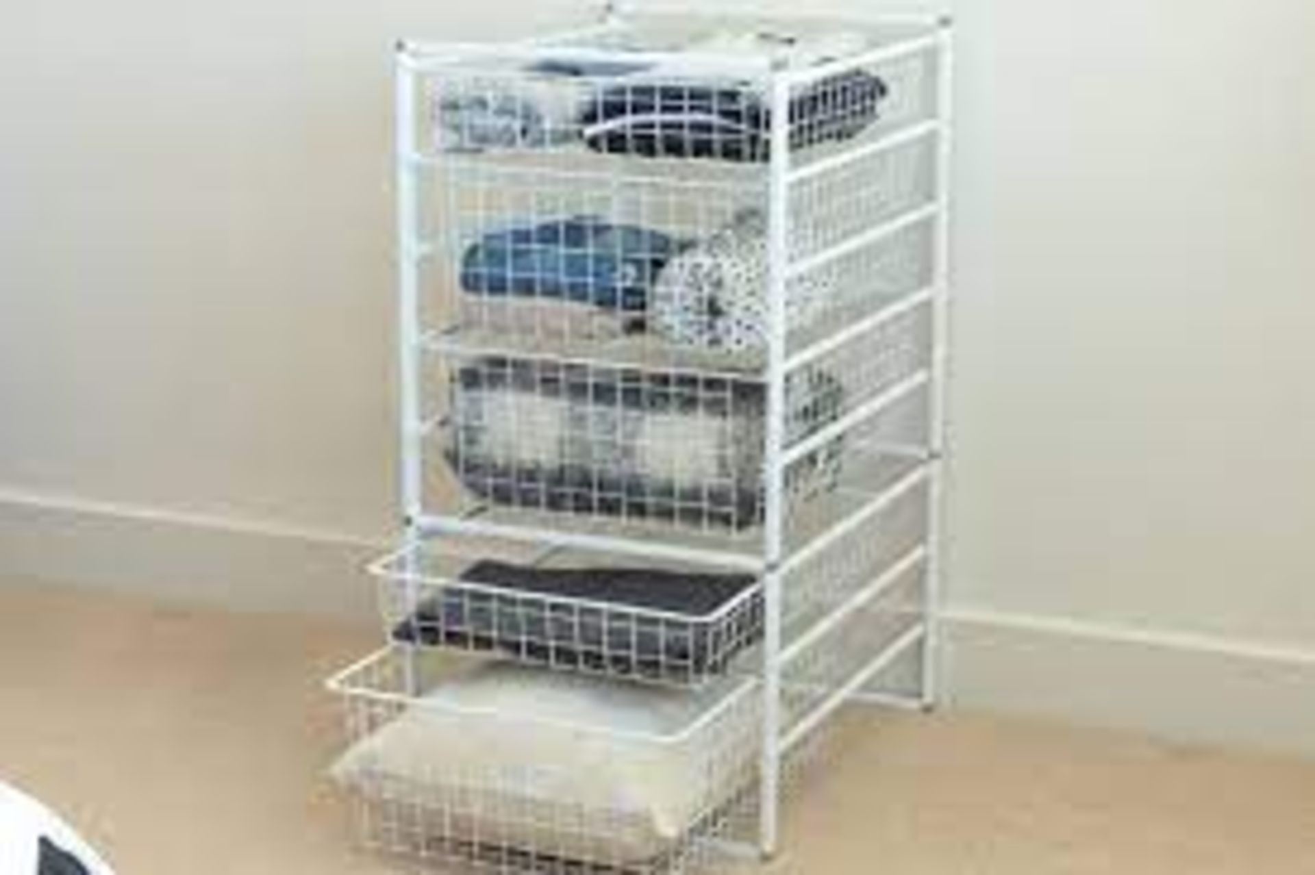 (P2) 2x Flexi Storage Home Solutions White. 8 Runner Basket Kit. (H850x D545x W436mm)