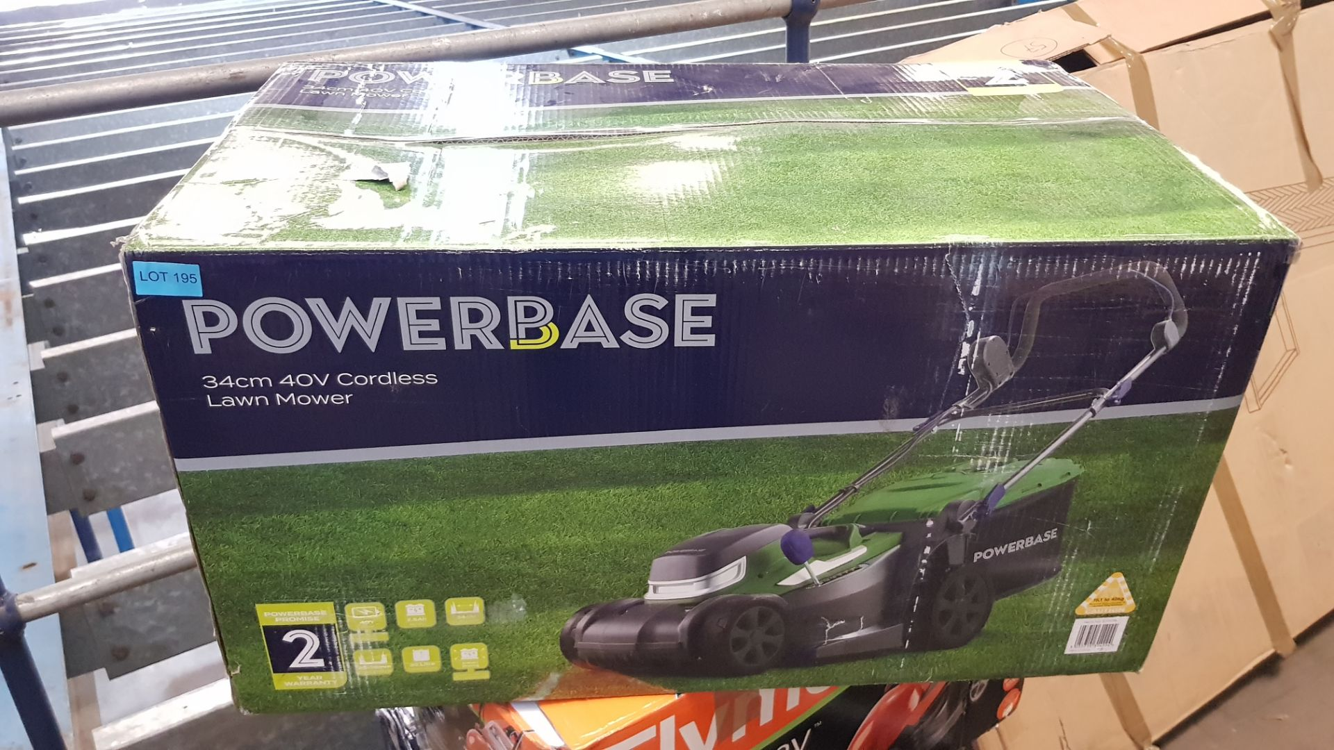 (P7) 1x Powerbase 34cm 40V Cordless Lawn Mower RRP £169. New, Sealed Item. - Image 3 of 3