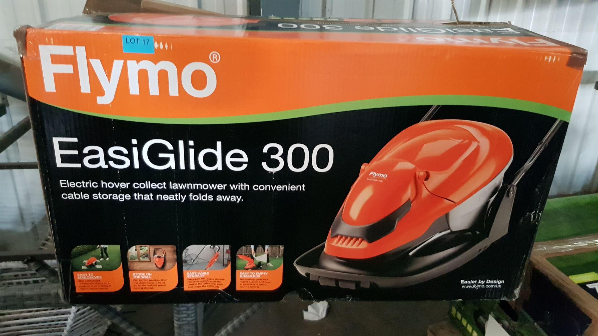 (P9) 1x Flymo Easiglide 300 RRP £99. Electric Hover Collect Lawnmower. - Image 3 of 3