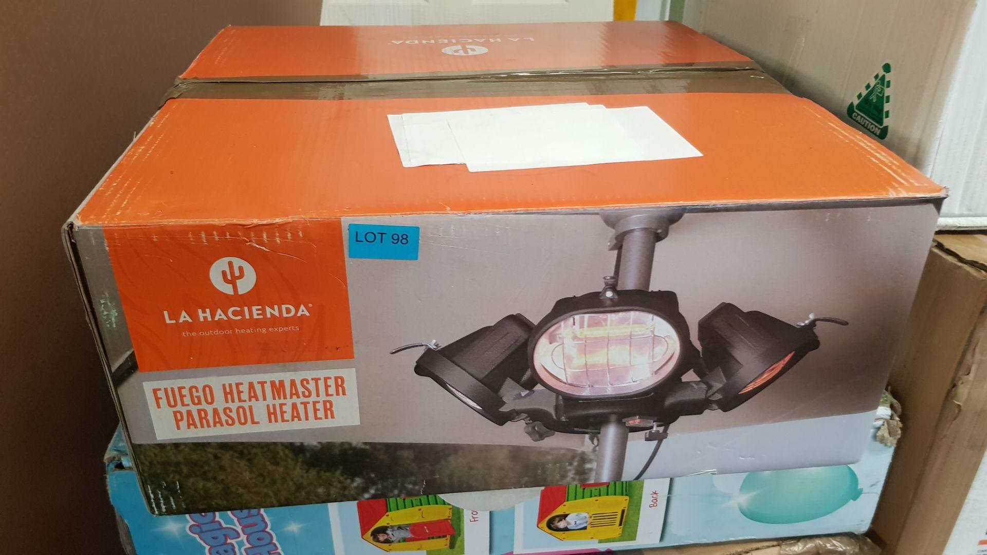 (P2) 1x La Hacienda Fuego Heatmaster Parasol Heater. RRP £129.99. (H19x D45cm) - Image 3 of 3
