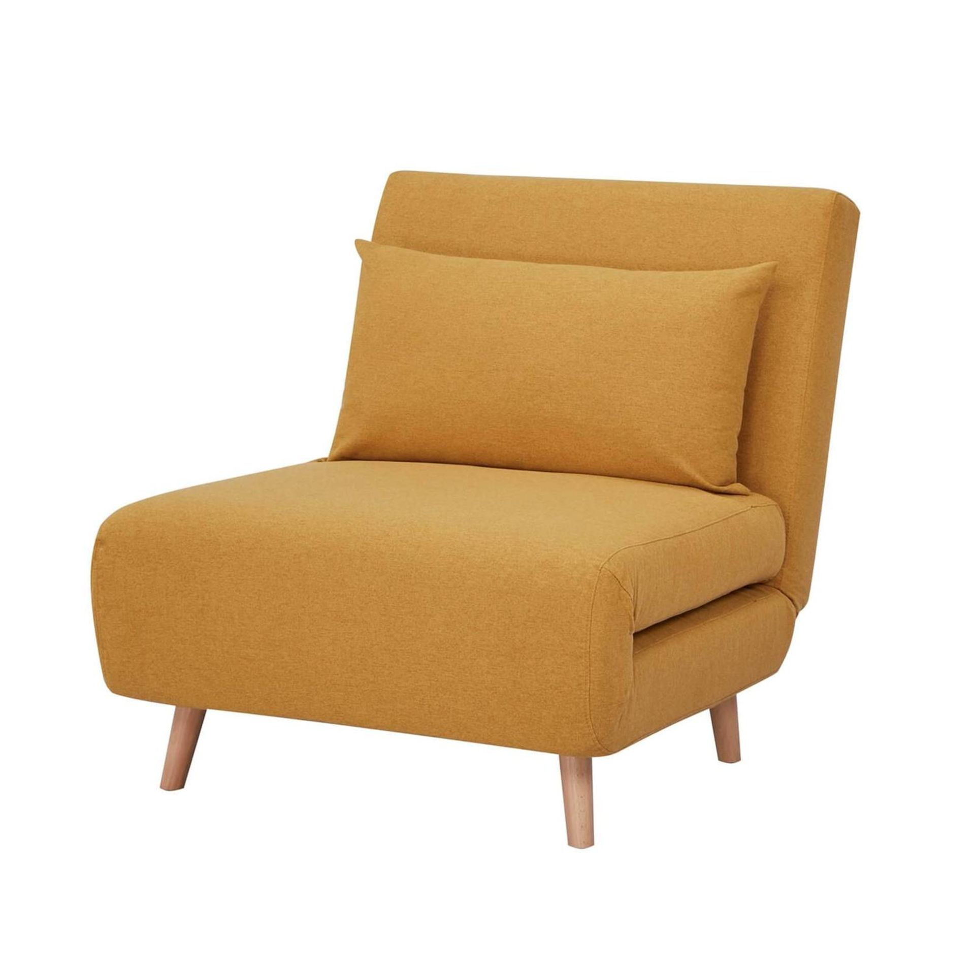 (3D) 1x Freya Folding Chair Bed Ochre. RRP £200.00. - Image 2 of 3