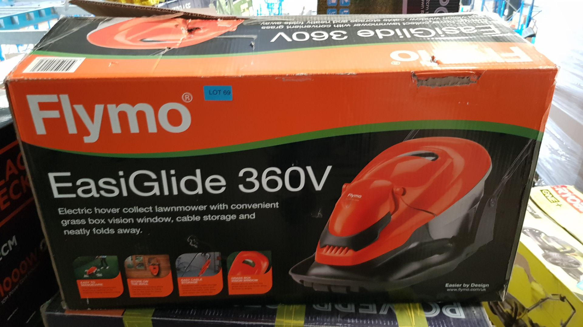 (P5) 1x Flymo EasiGlide 360V Electric Hover Lawnmower RRP £139.00. - Image 3 of 3