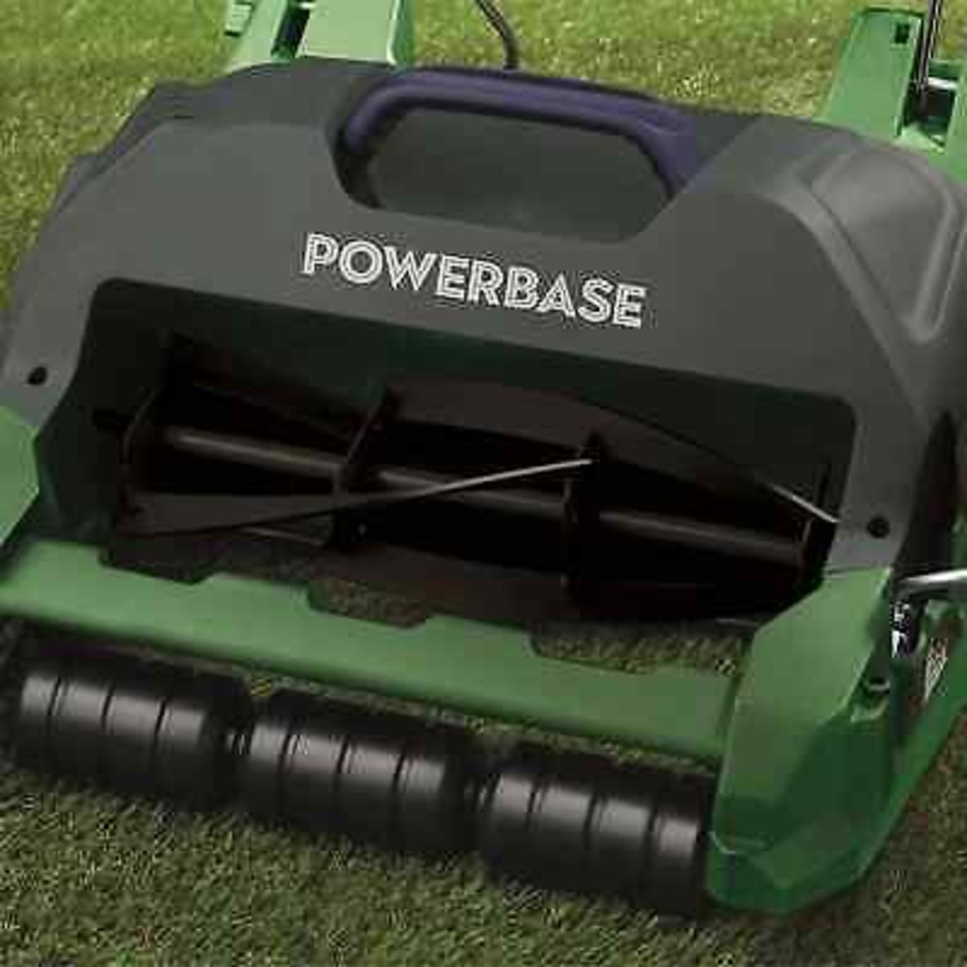 (P6) 1x Powerbase 32cm 400W Electric Cylinder Lawn Mower RRP £89. New, Sealed Item. (Undelivered R - Image 2 of 3