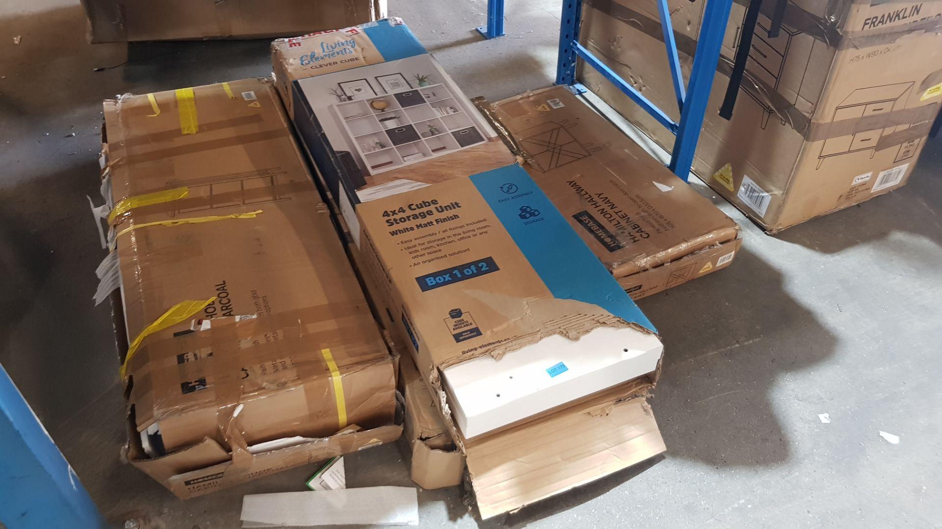 (2K) 4x Items. 1x Hamilton Shoe Cabinet Charcoal. 1x Hamilton Hallway Cabinet Navy (H76x W70x D32.5 - Image 5 of 8