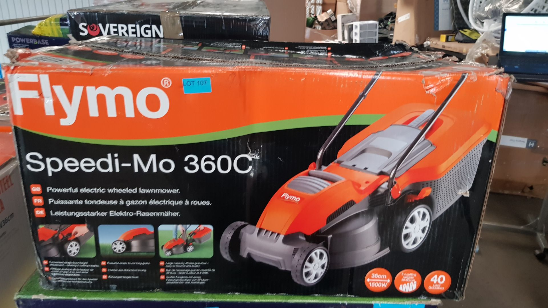 (P2) 1x Flymo Speedi-Mo 360C. RRP £109.99. Unit Appears Clean, As New. Contents In Original Package - Image 3 of 5