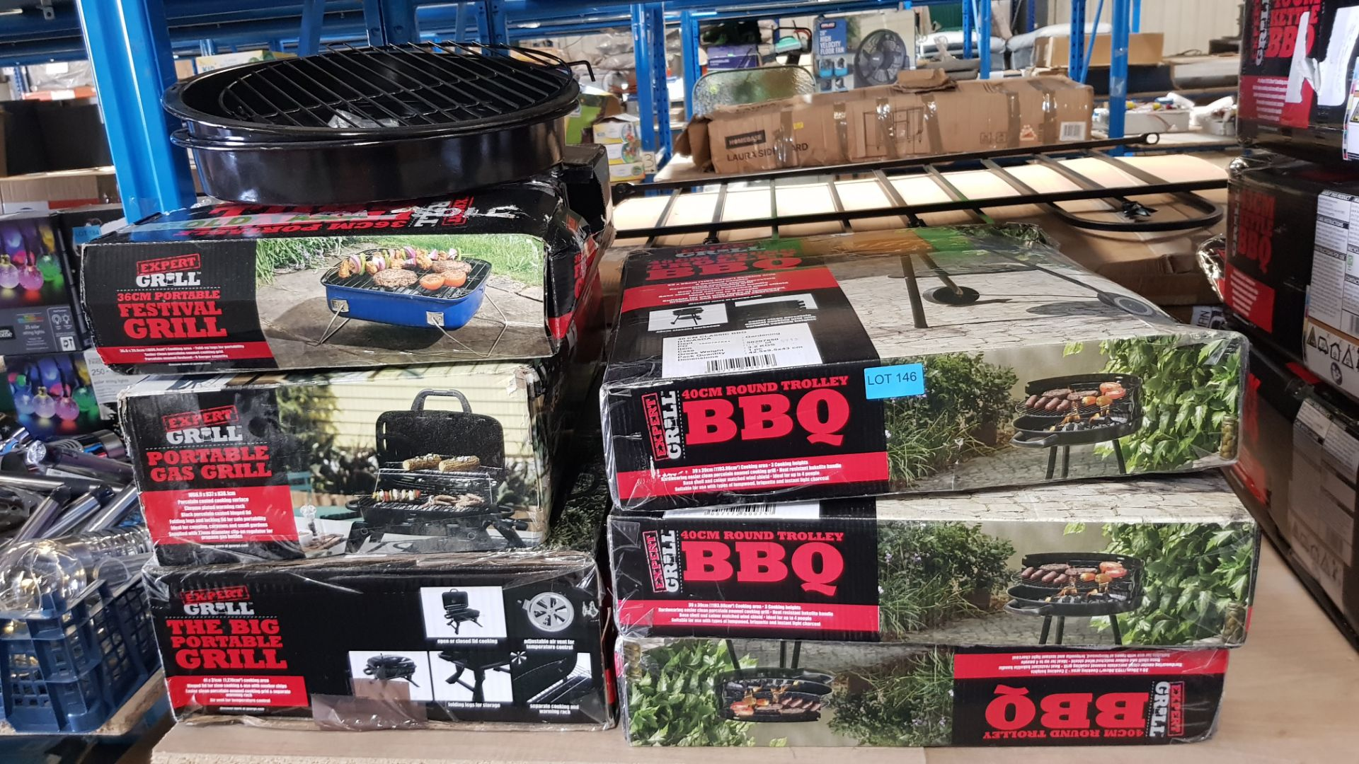 (3F) 8x Expert Grill BBQ Items. 3X 40cm Round Trolly BBQ. 1x The Big Portable Grill. 1x Portable Ga - Image 4 of 4