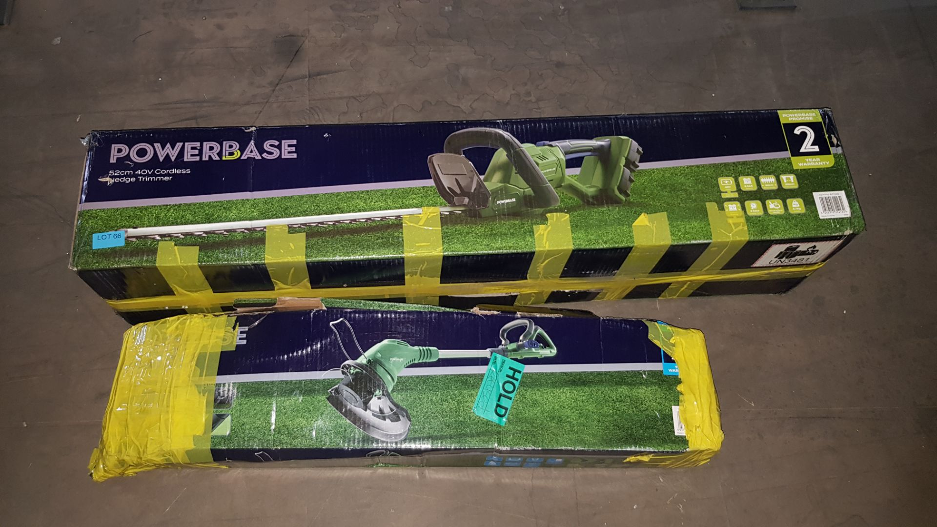 (P5) 2x Powerbase Items. 1x 52cm 40V Cordless Hedge Trimmer RRP £90 (Unit Appears Clean., Unused Wi - Image 2 of 3