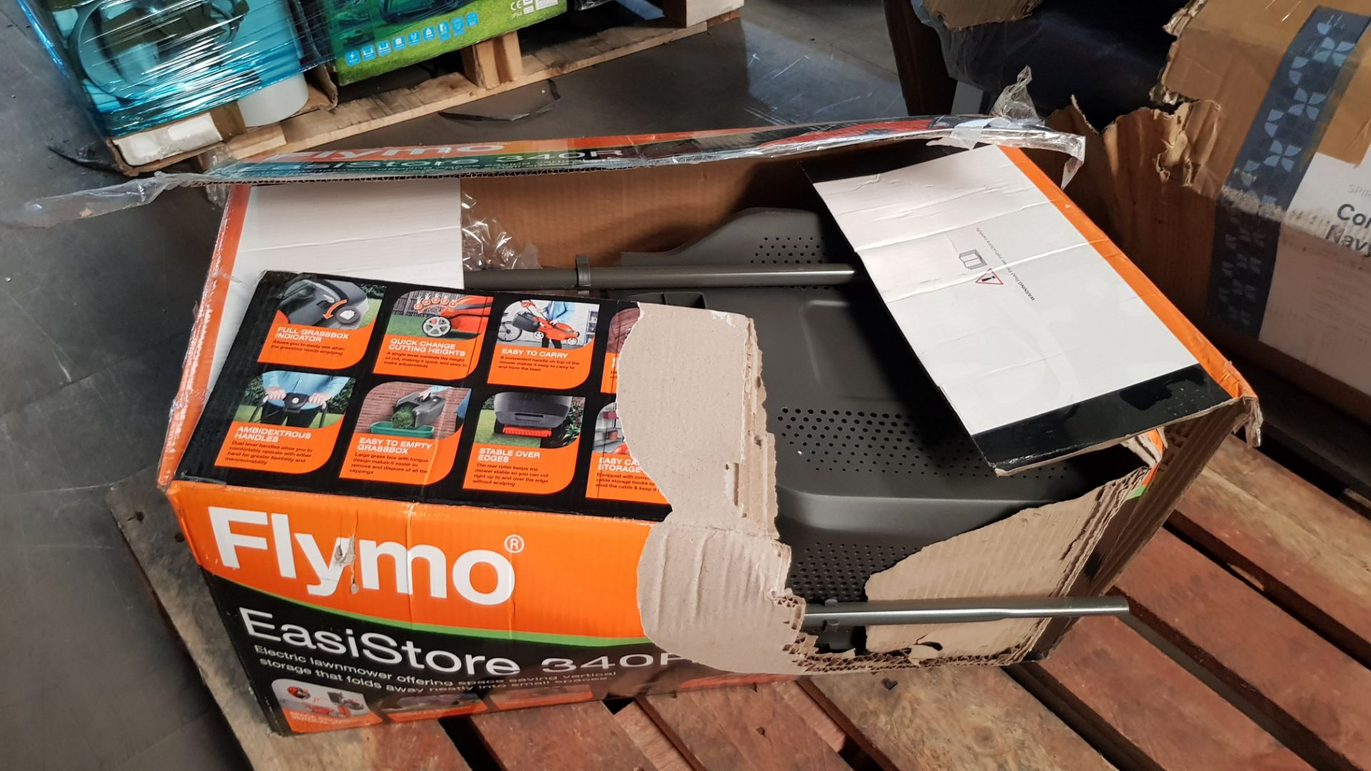 (P3) 1x Flymo EasiStore 340R. RRP £115.00. (Damaged Box – Contents Appear Clean, Unused). - Image 4 of 5