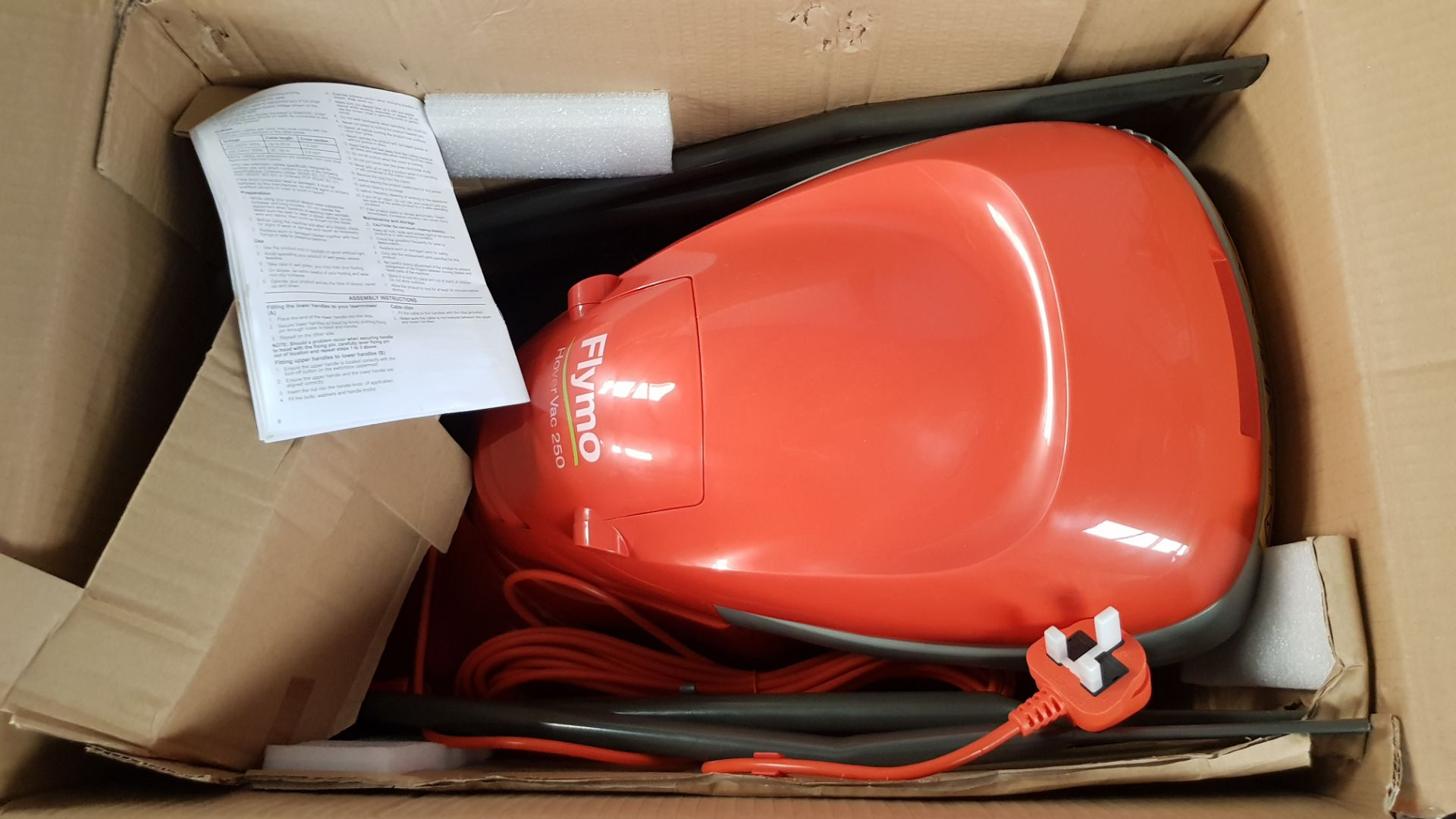 (P2) 1x Flymo HoverVac 250 RRP £80. Unit Appears Clean, Unused & As New. - Image 5 of 5