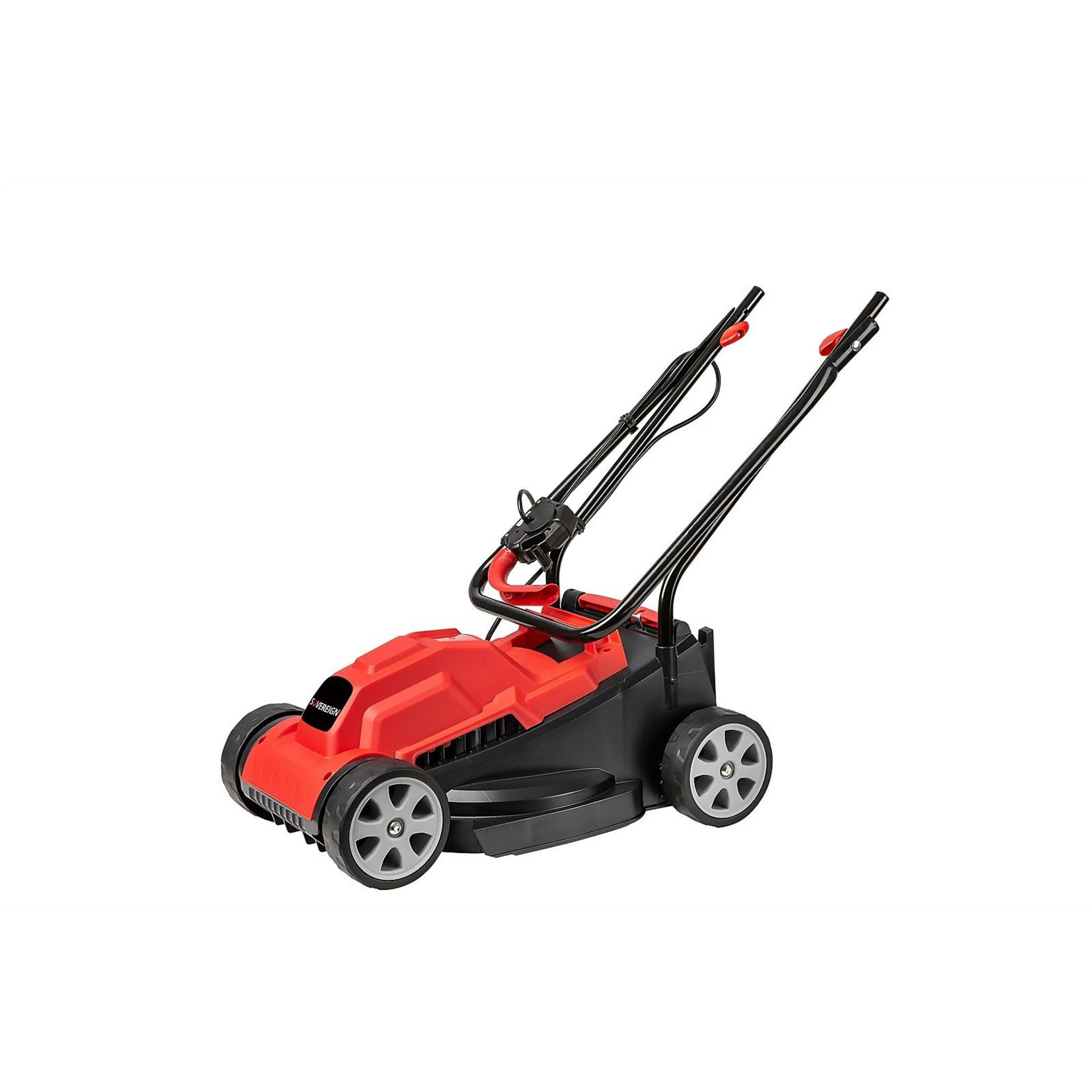 (P6) 1x Sovereign 32cm 1200W Electric Rotary Lawn Mower RRP £50. New, Sealed Unit, With Box Damage. - Image 2 of 4