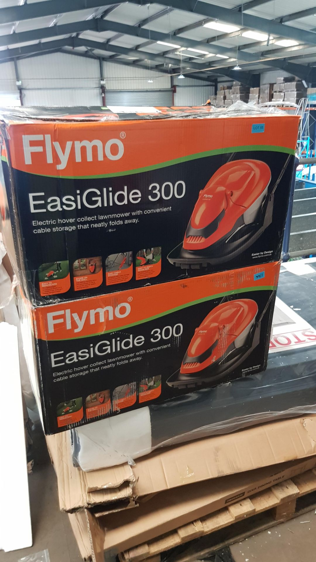(P6) 2x Flymo EasiGlide 300 RRP £99 Each. Hover Collect Lawnmower. - Image 2 of 2
