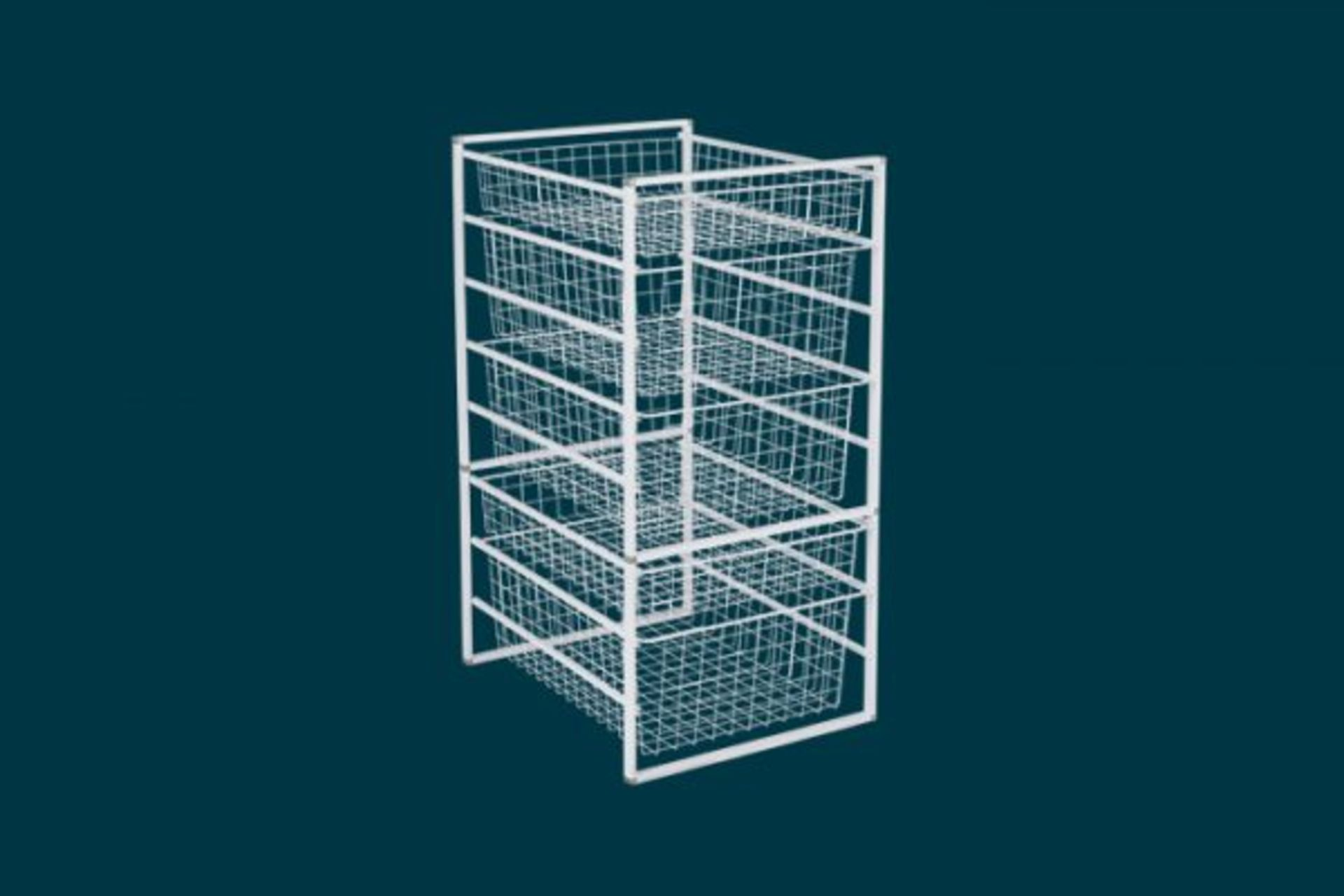 (P2) 2x Flexi Storage Home Solutions White. 8 Runner Basket Kit. (H850x D545x W436mm) - Image 2 of 3