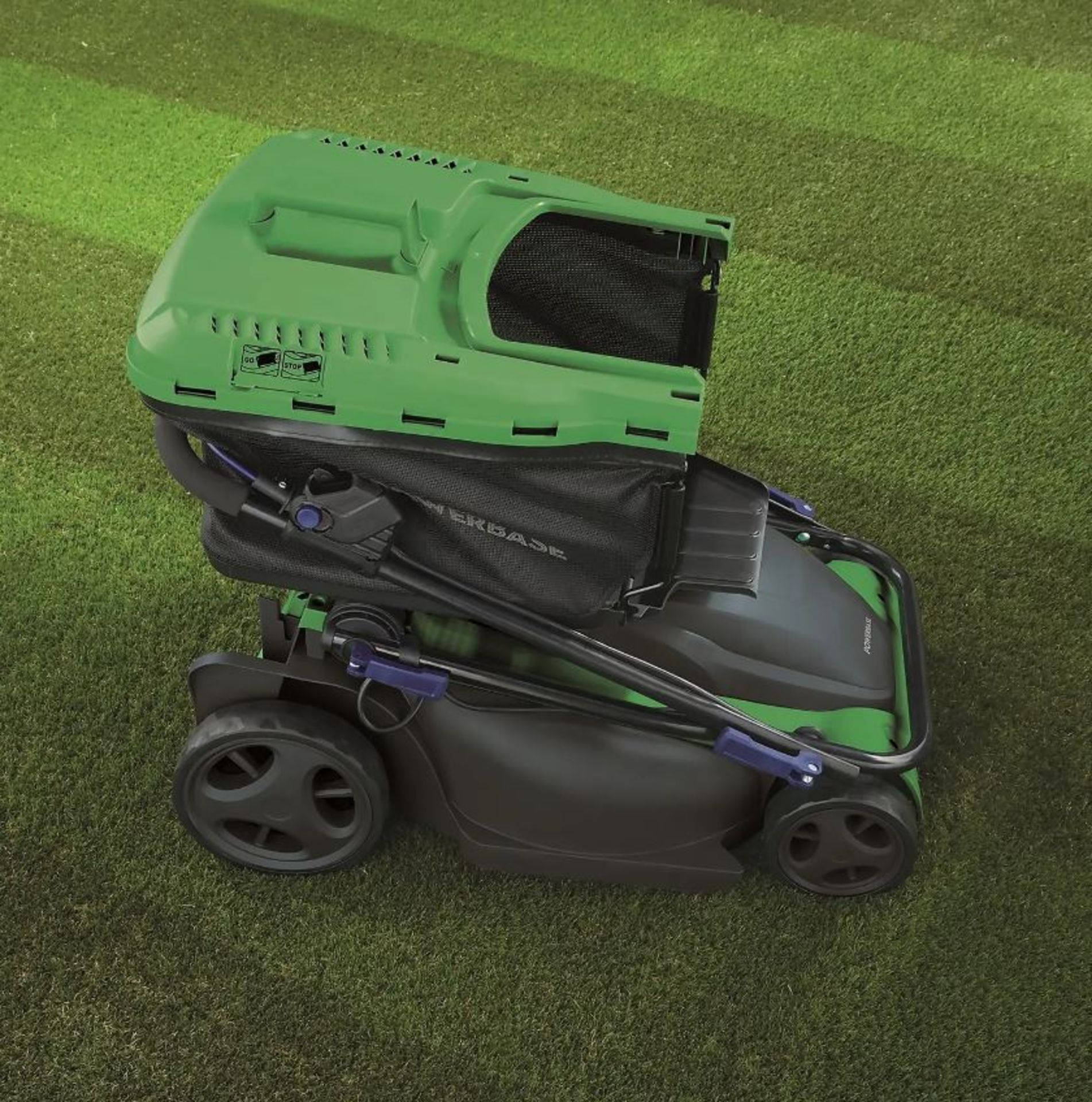 (P2) 2x Powerbase 41cm 1800W Electric Rotary Lawn Mower. RRP £119.00. - Image 2 of 3