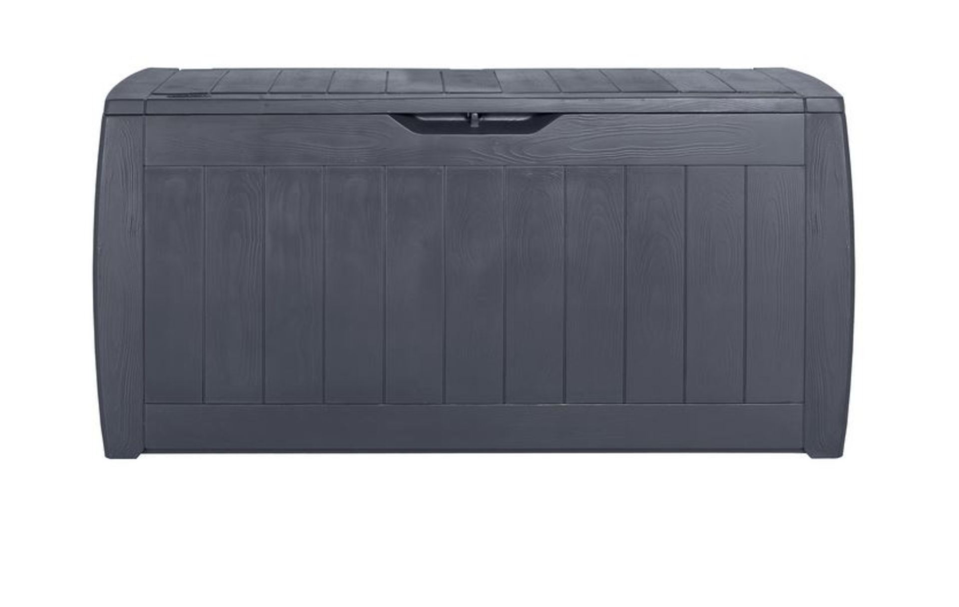 (P10) 4x Keter Hollywood Garden Storage Unit 270L RRP £30 Each. (L117.3x W44.5x H53cm). (1x Sealed,