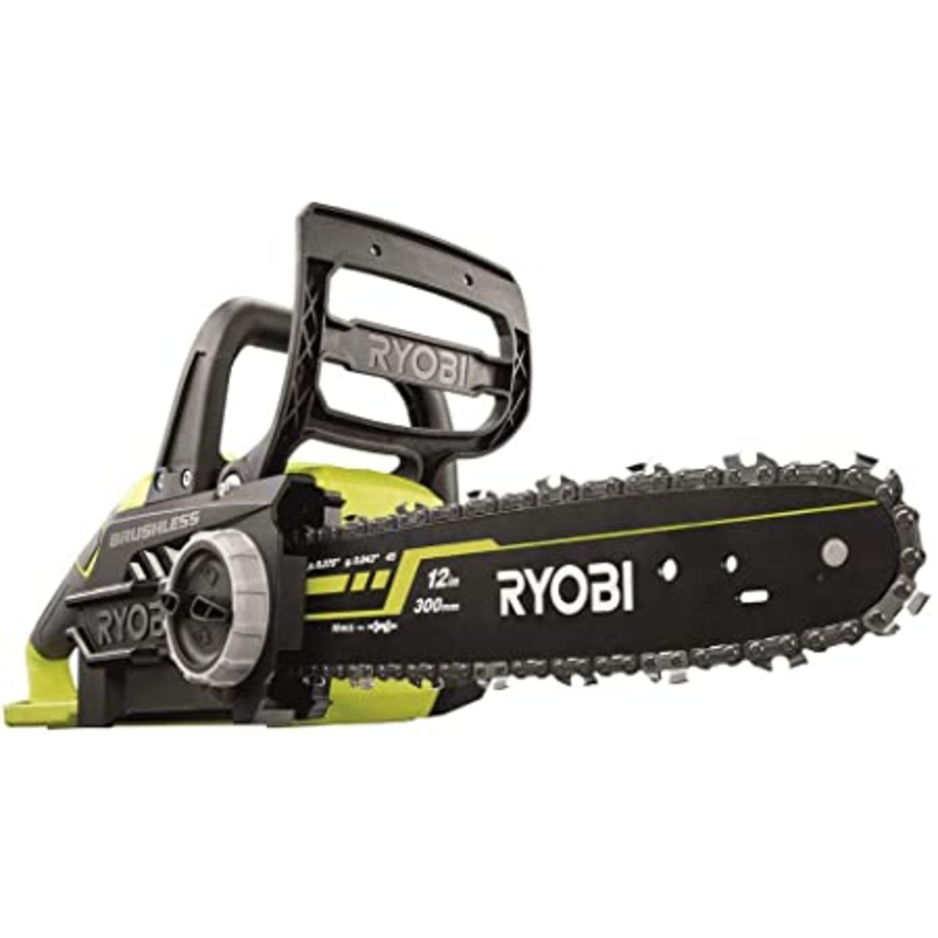 (P9) 1x Ryobi One+ Brushless 18V Cordless Chainsaw RRP £160. (With Battery & Charger) - Image 2 of 8
