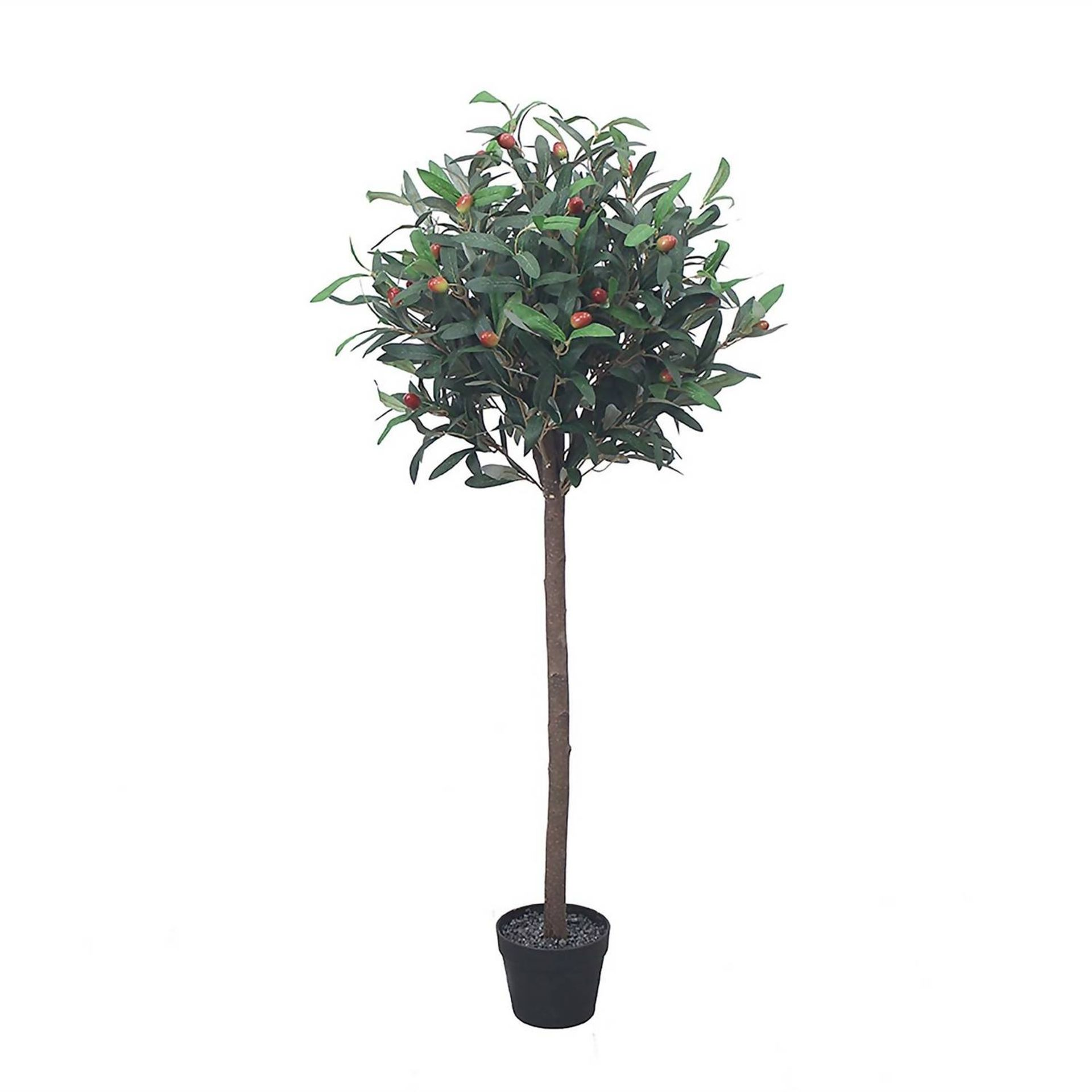 (4P) 3x Garden Items. 2x Artificial Olive Tree (With Tags) RRP £39 Each. 1x Maple Leaf Trellis (Sea