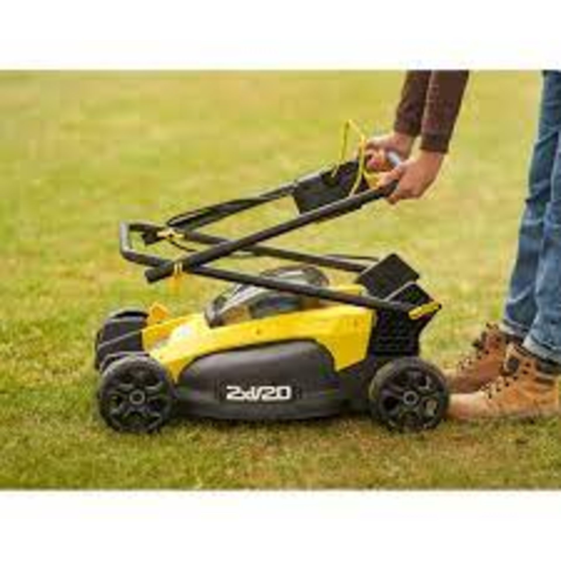 (P10) 1x Stanley Fatmax V20 Lithium Ion 51cm Push Mower RRP £399.99. New, Sealed Item. - Image 2 of 4