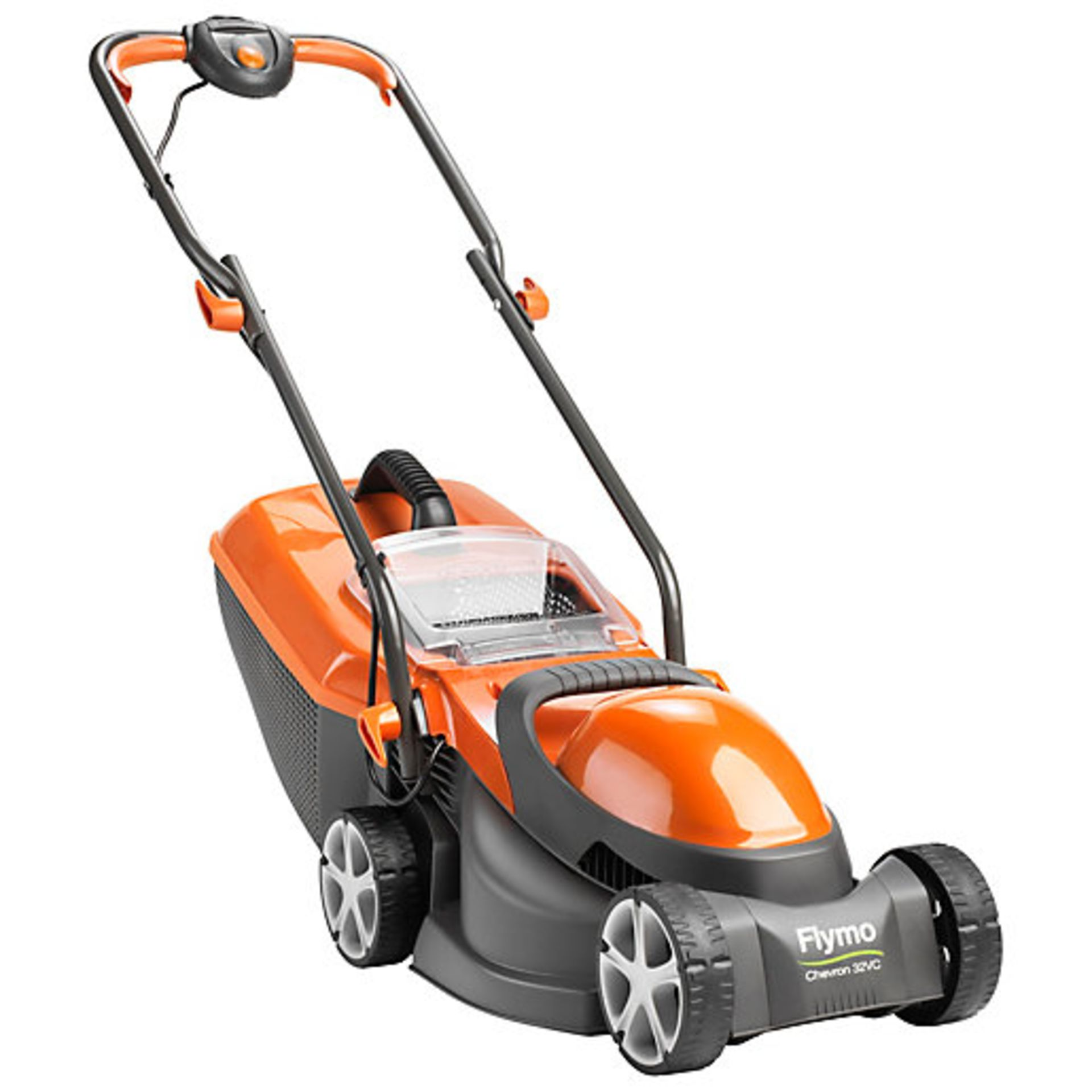 (P3) 1x Flymo Chevron 32V Lawn Mower. Contents Appear As New, Clean & Unused. - Image 2 of 5