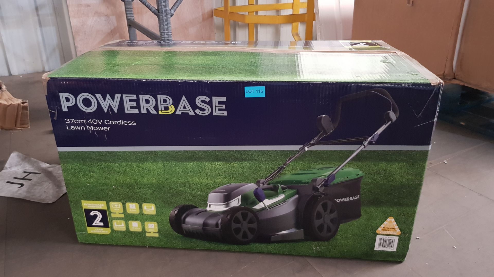 (P3) 1x Powerbase 37cm 40V Cordless Lawn Mower. RRP £199.00. Unit Appears Clean, As new & Unused. L - Image 3 of 6