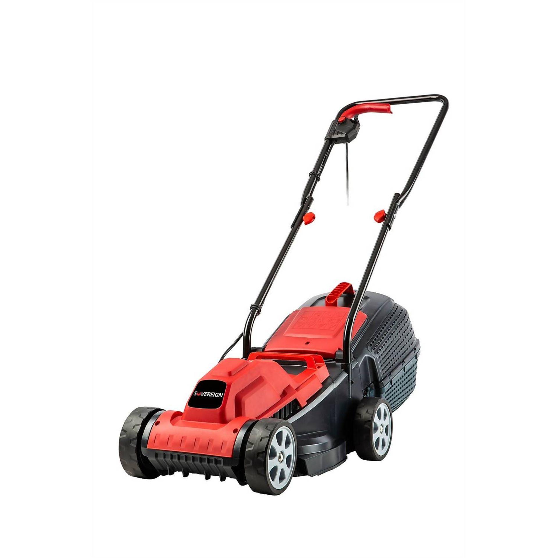 (P9) 2x Items. 1x Powerbase 32cm 1400W Electric Lawn Rake & Scarifier. 1x Sovereign 32cm 1200W Ele - Image 2 of 3