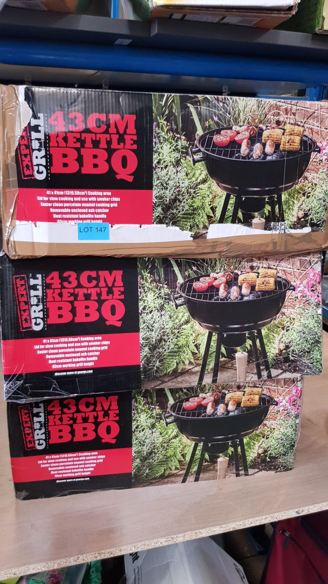 (3F) 3x Expert Grill 43cm Kettle BBQ. - Image 3 of 3