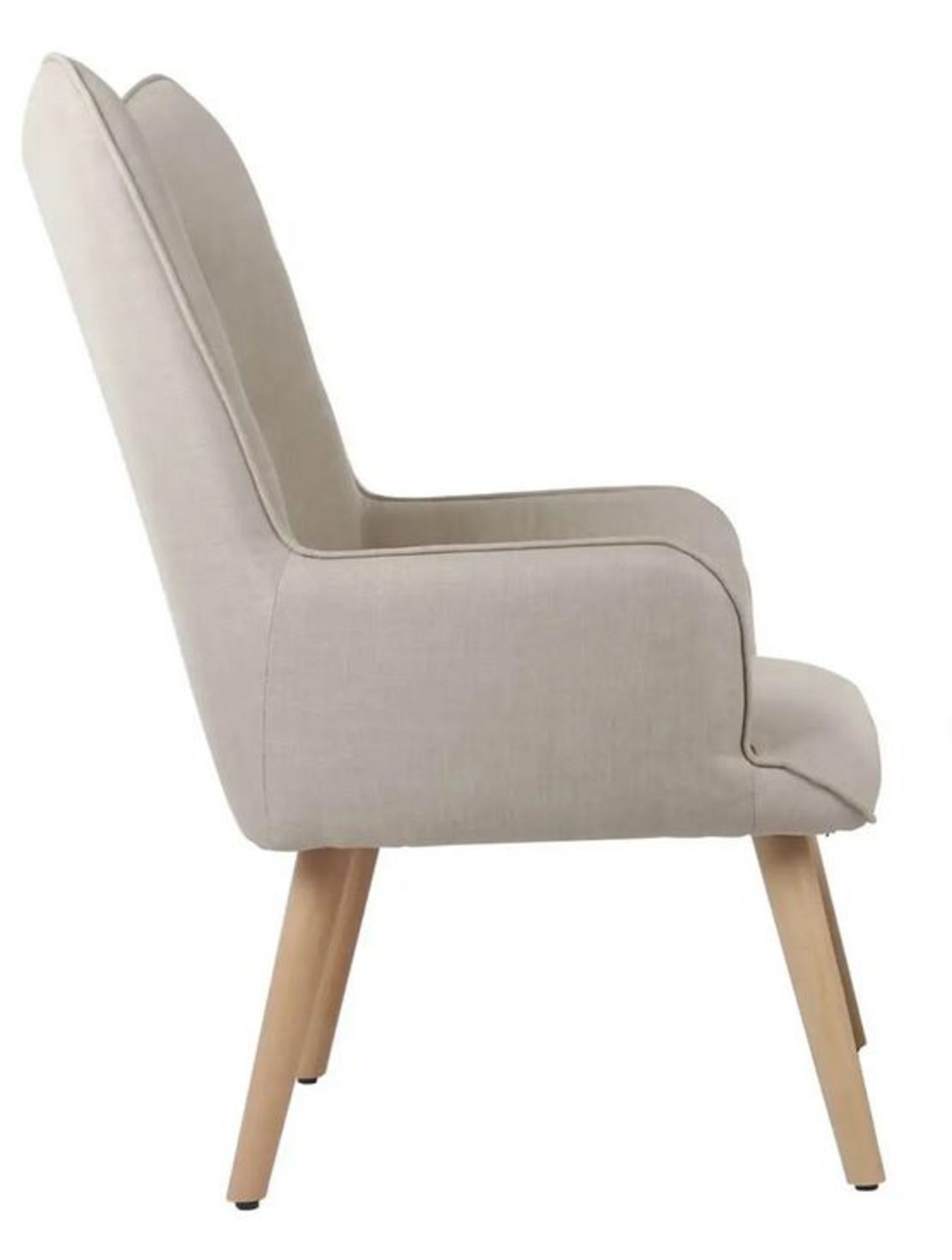 (2I) 2x Leon Beige Lounge Chairs (Only 1x Leg Set With This Lot). Both Units Appear Clean, Unused. - Image 2 of 7