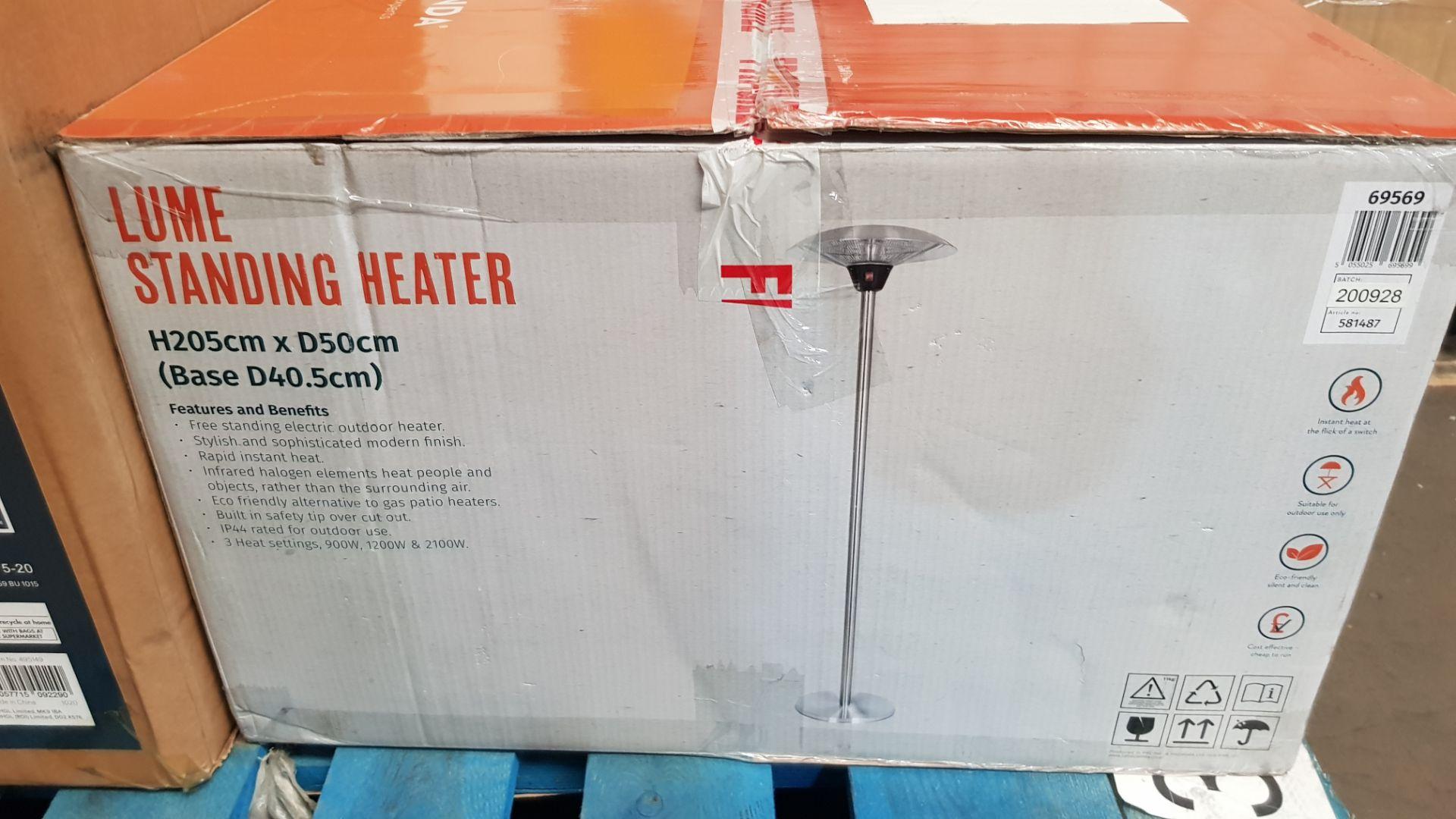 (P3) 1x La Hacienda Lume Standing Heater (H205x D50x Base D40.5cm) - Image 3 of 3