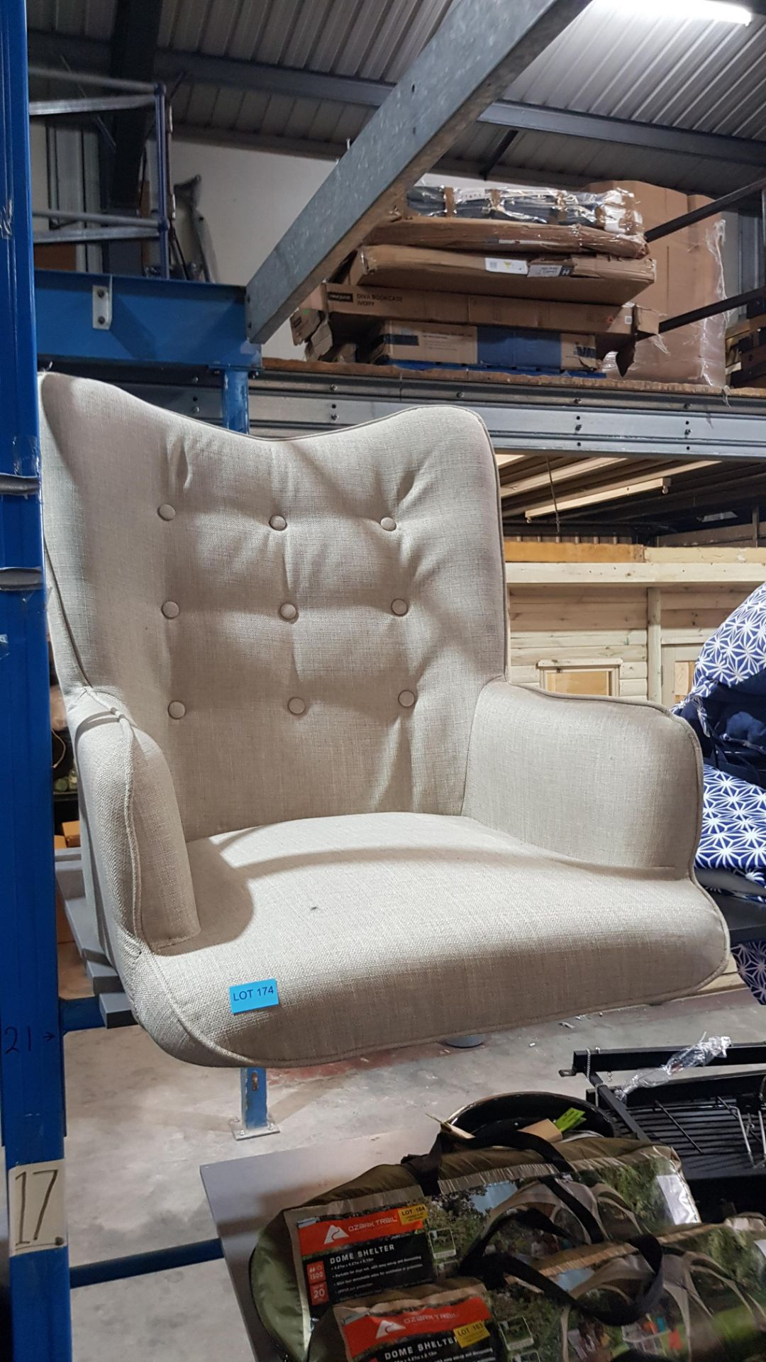 (2I) 2x Leon Beige Lounge Chairs (Only 1x Leg Set With This Lot). Both Units Appear Clean, Unused. - Image 5 of 7