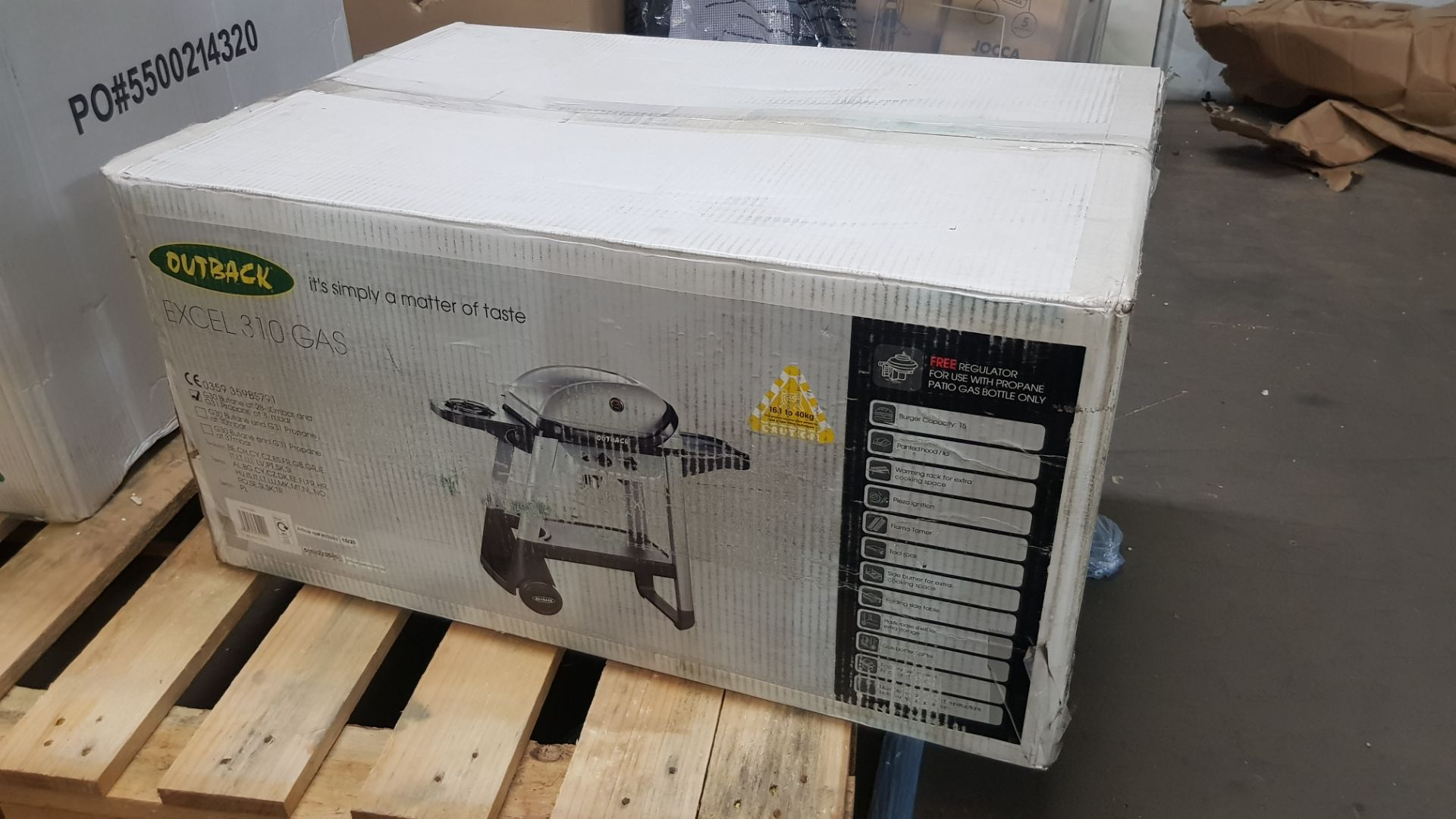 (P6) 1x Outback Excel 310 Gas BBQ Silver RRP £100. New, Sealed Unit, With Damage To Box On One Side - Image 5 of 5