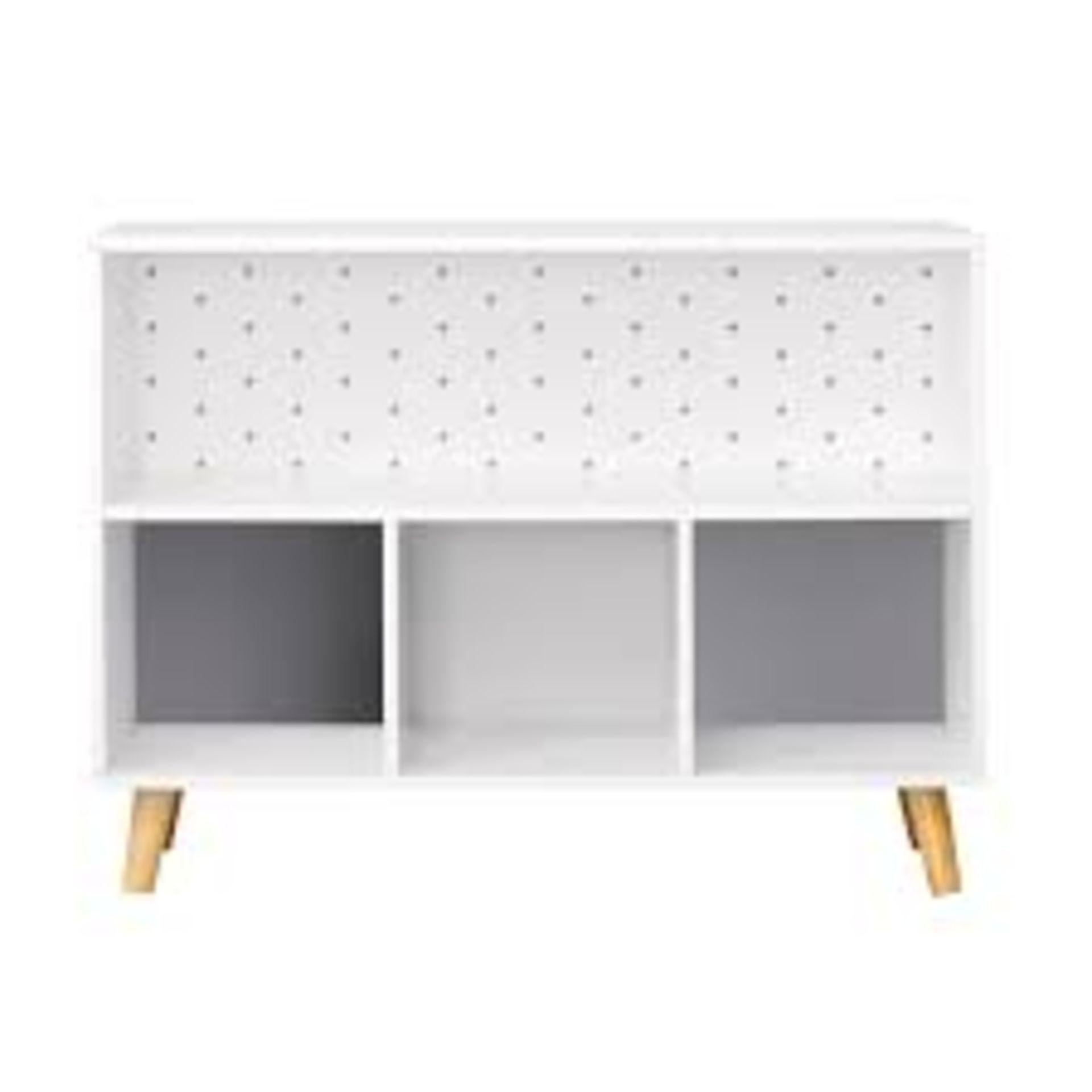 (P3) 1x Flexi Storage Kids Cube Unit With Legs White / Grey. (H580x W780x D280mm) - Image 2 of 3