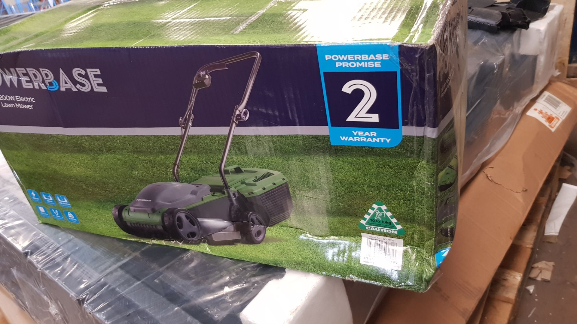 (P7) 1x Sovereign 32cm 1200W Electric Rotary Lawn Mower RRP £50. New, Sealed Unit With Very Slight - Image 4 of 5