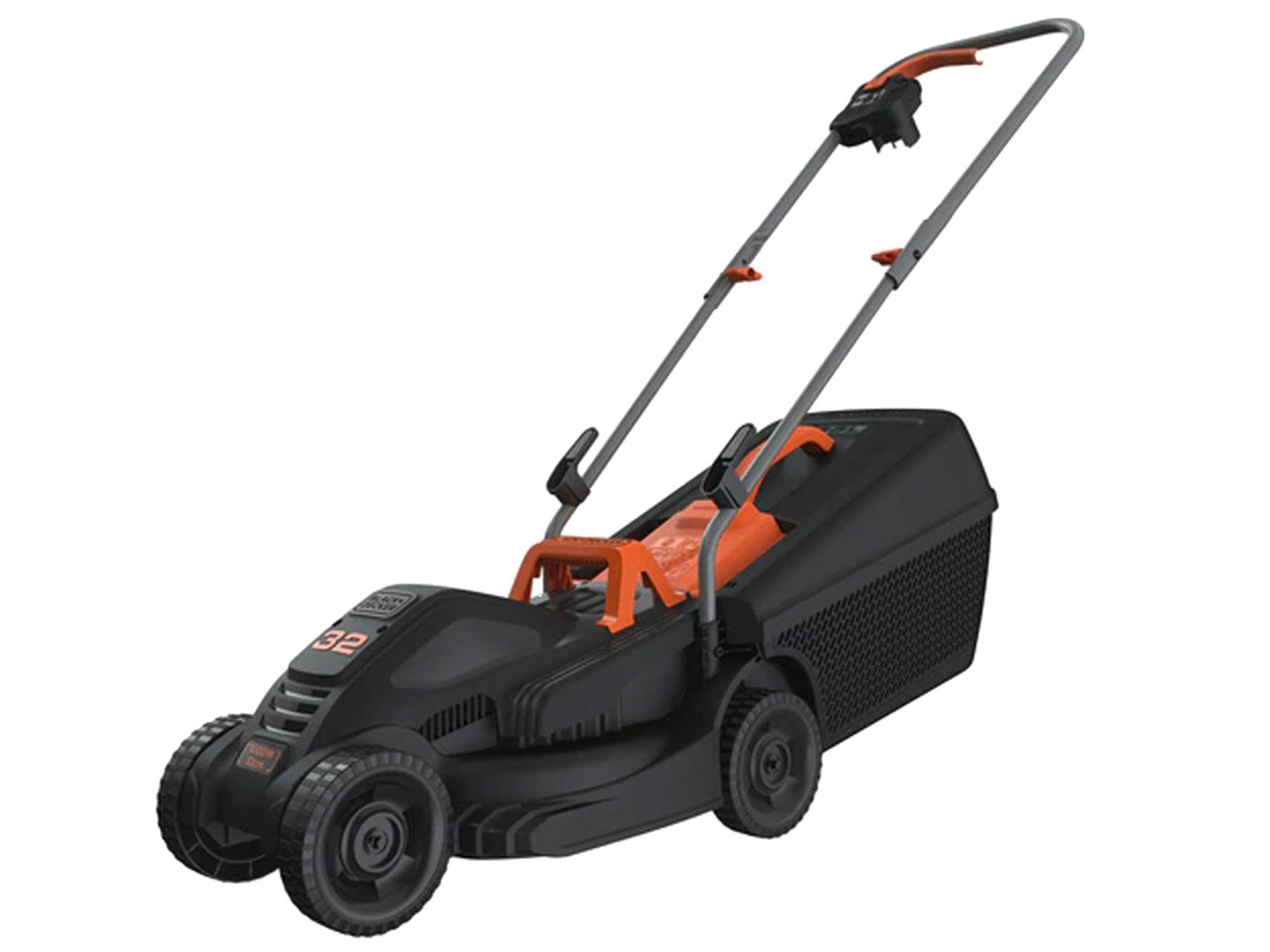 (P2) 1x Black & Decker 32cm 1000W Corded Lawn Mower & Strimmer RRP £99. Contents Appear Clean, Unu - Image 2 of 5