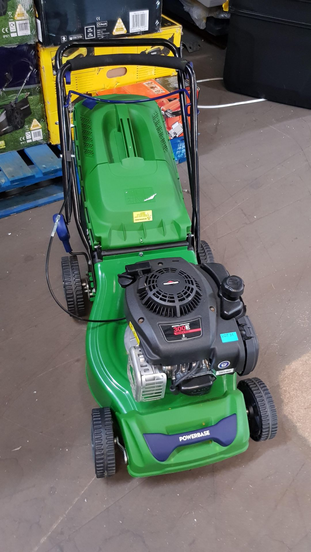 (P10) 1x Powerbase 41cm 125cc Push Petrol Rotary Lawn Mower (XSS41D) RRP £199. New, Clean Unused I - Image 3 of 8