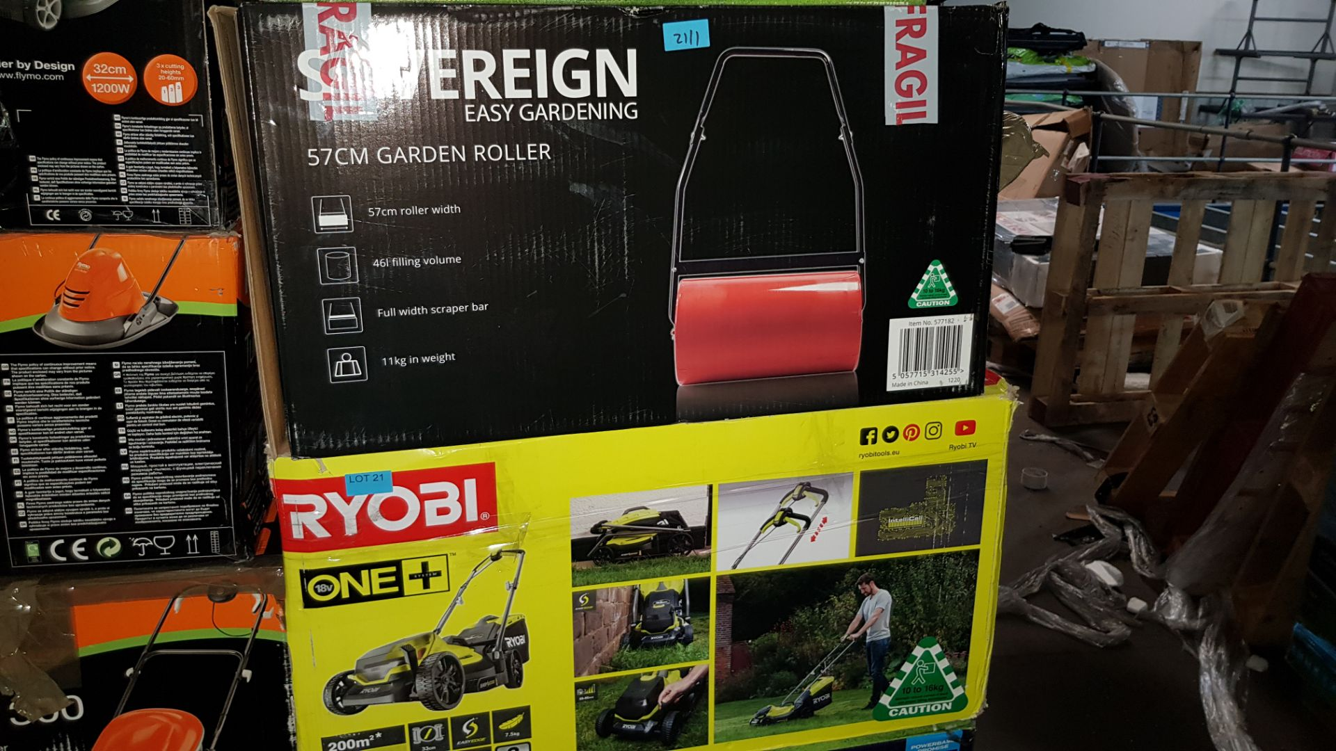 (P9) 2x Items. 1x Ryobi One + Cordless Lawnmower (No Battery Or Charger). 1x Sovereign 57cm Garden - Image 3 of 3