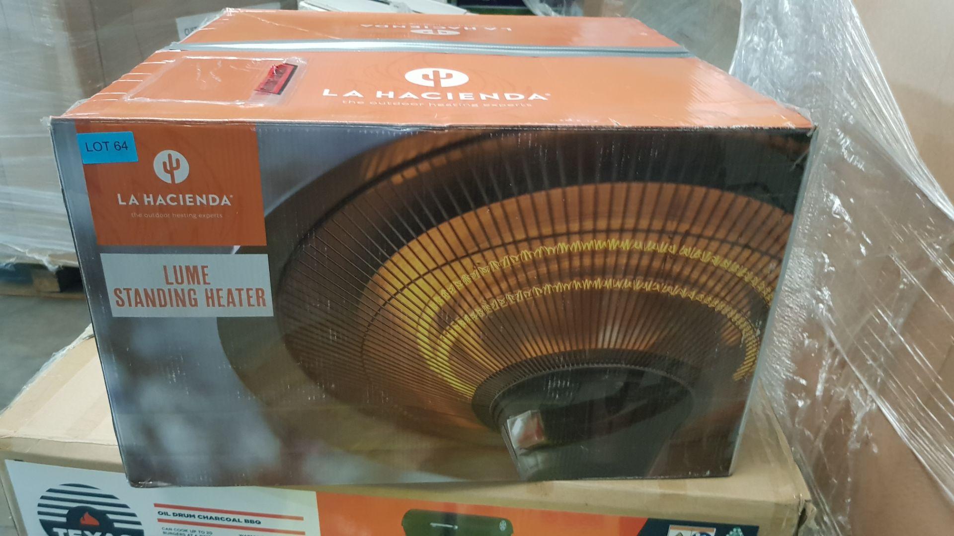 (P5) 1x La Hacienda Lume Standing Heater RRP £99.99. 3 Heater Settings: 900W, 1200W & 2100W (H205 - Image 2 of 3